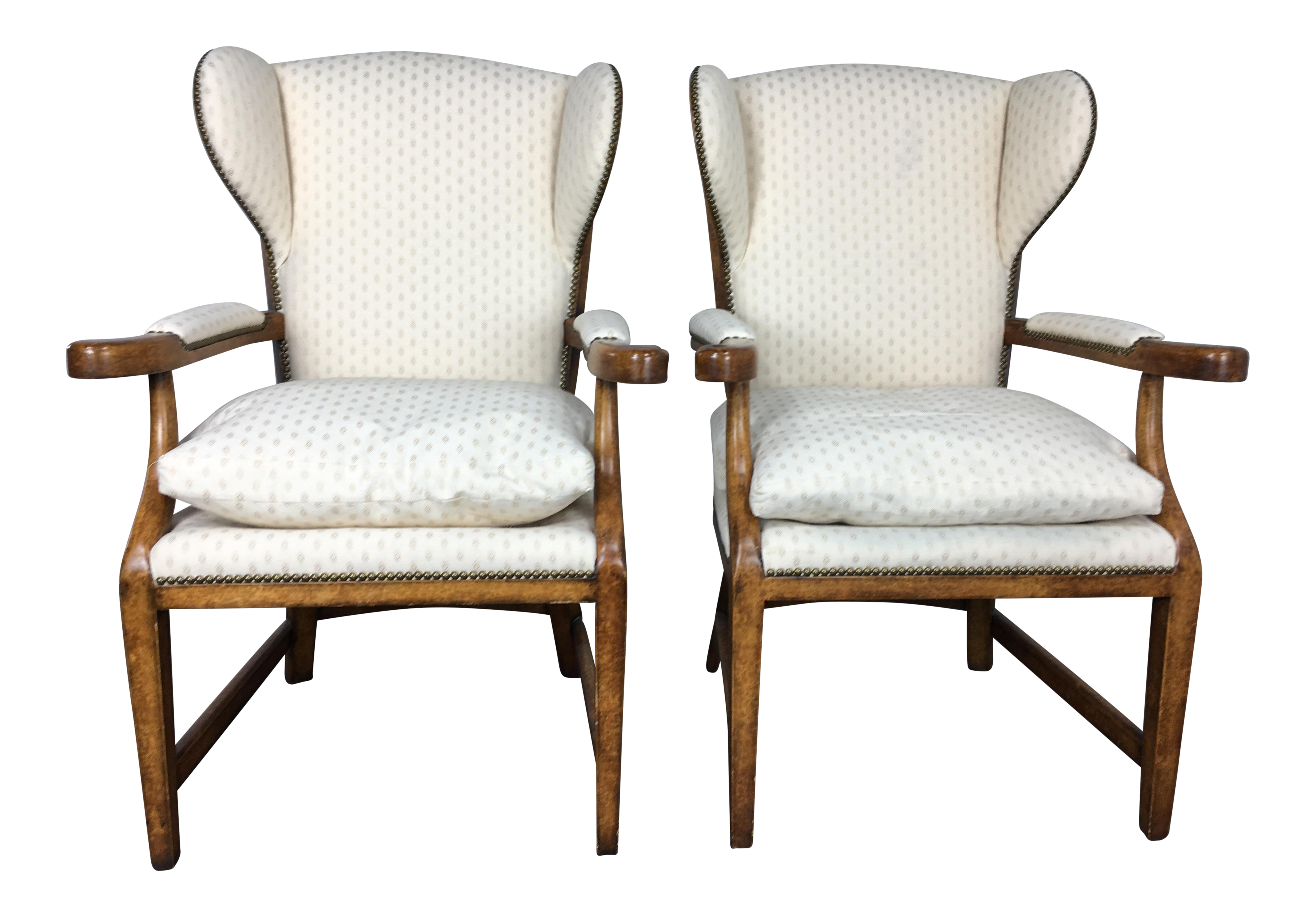 Minton Spidell English Barber Chairs A Pair Chairish