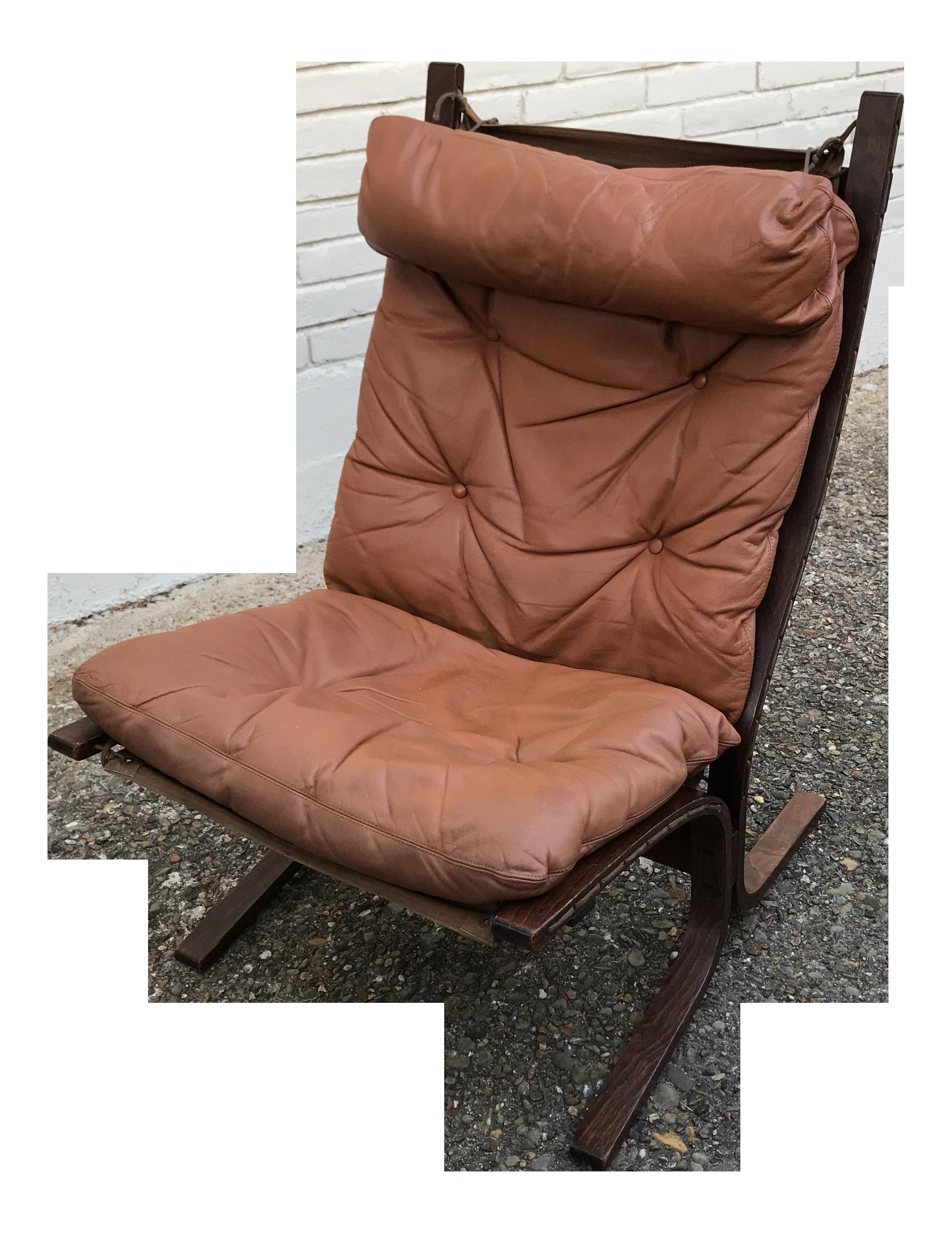 1960s Danish Modern Ingmar Relling For Westnofa Leather Sling Chair