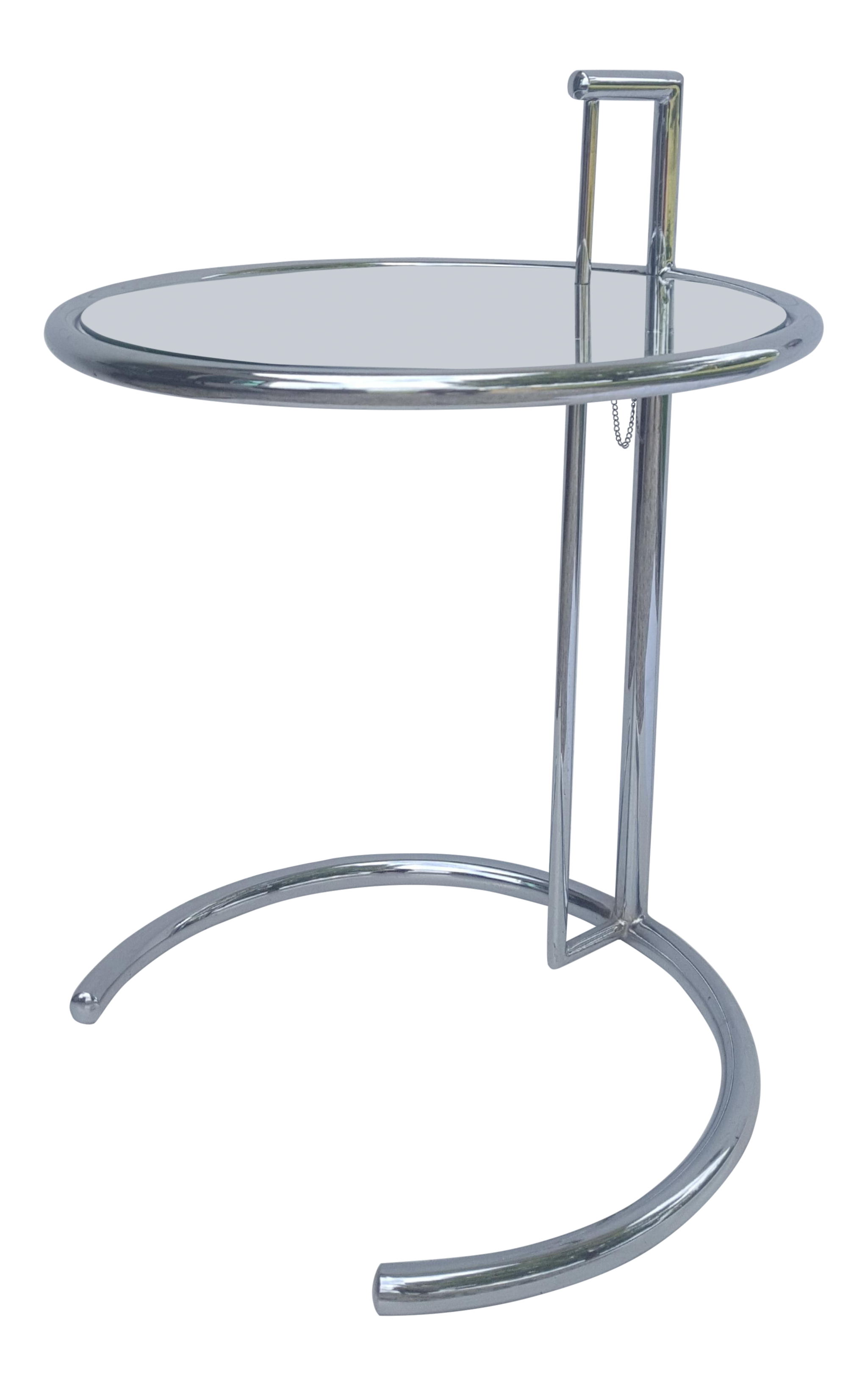 Vintage Eileen Gray Chrome And Glass Adjustable Cantilever Side - Eileen gray end table
