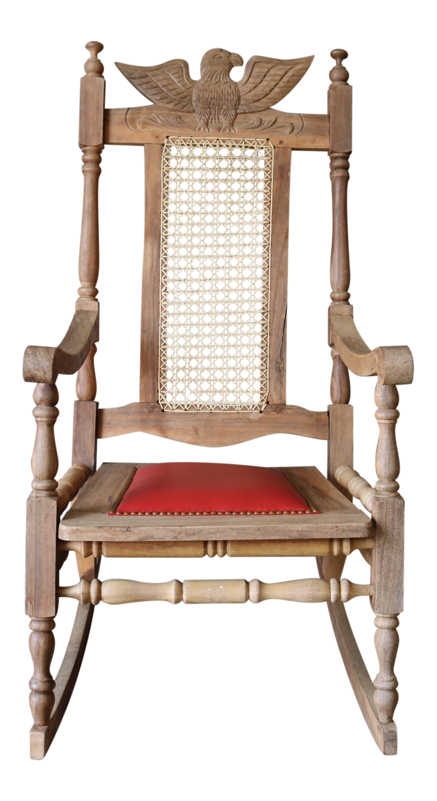- Vintage Carved Eagle Wood Rocking Chair Chairish