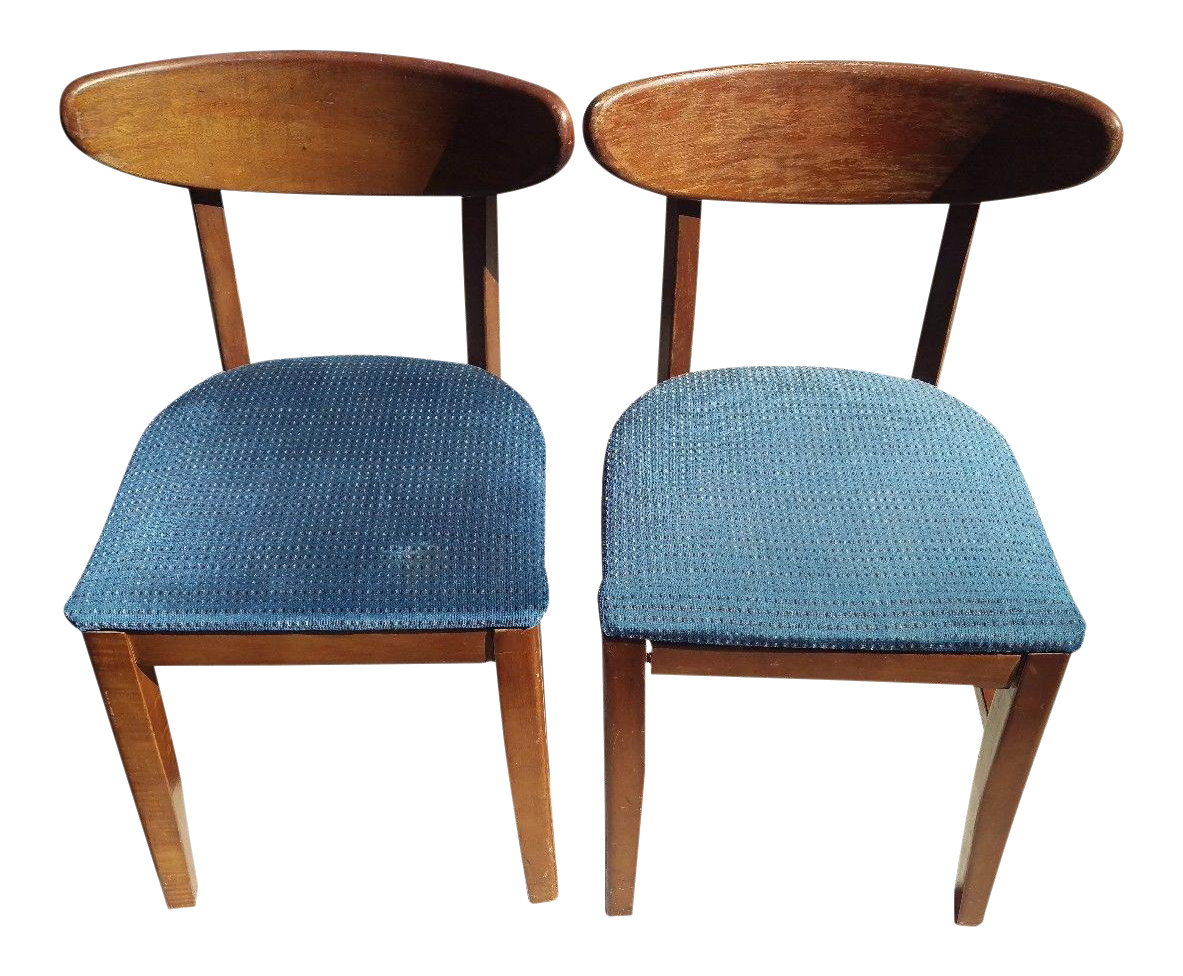 Bianco Mid-Century Bentwood Chairs - A Pair | Chairish