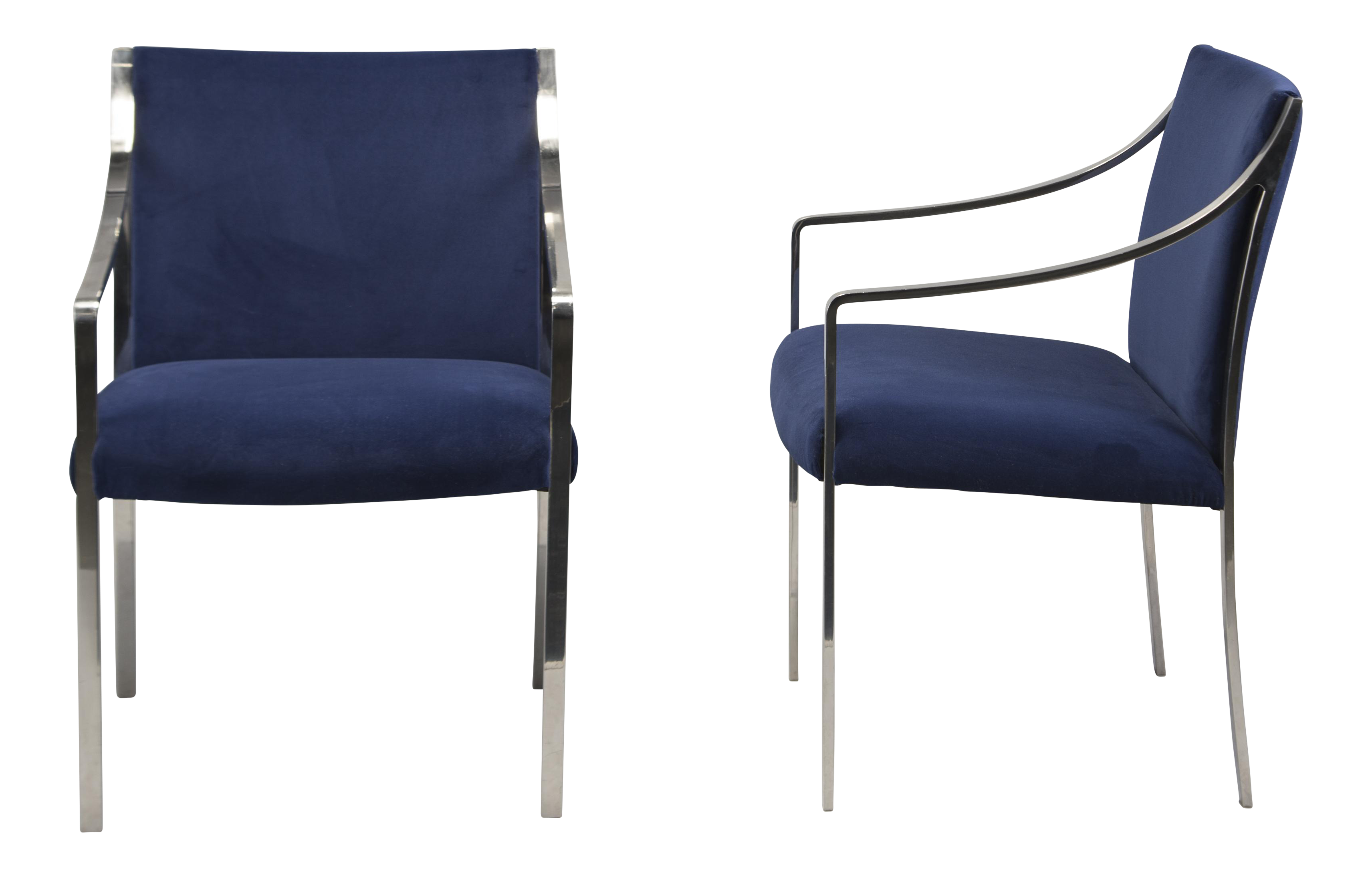Astonishing Pair Bert England For Stow Davis Steel Frame Arm Chairs Pdpeps Interior Chair Design Pdpepsorg