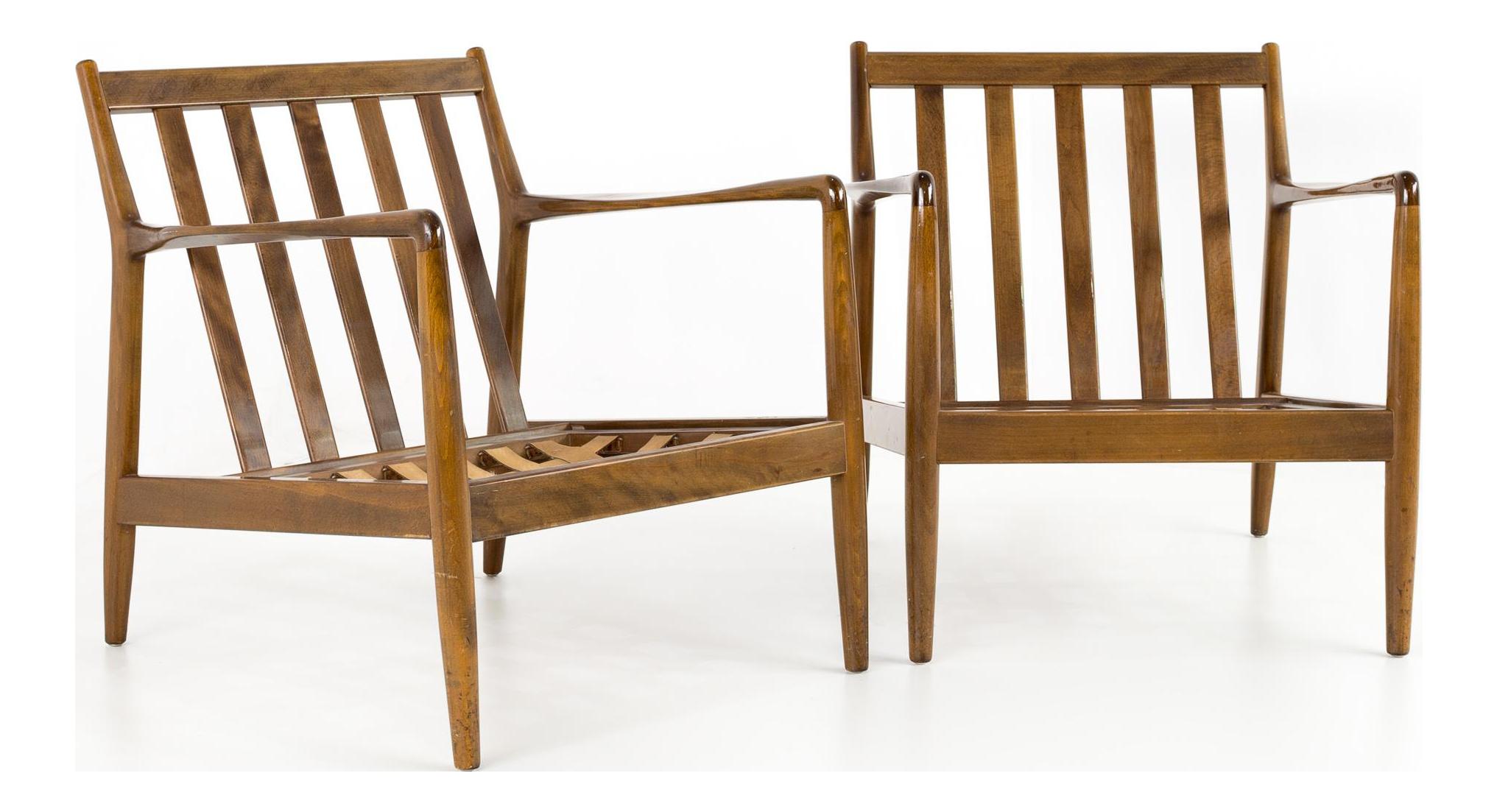 Awe Inspiring 1960S Mid Century Modern Folke Ohlsson For Dux Danish Lounge Chairs A Pair Machost Co Dining Chair Design Ideas Machostcouk