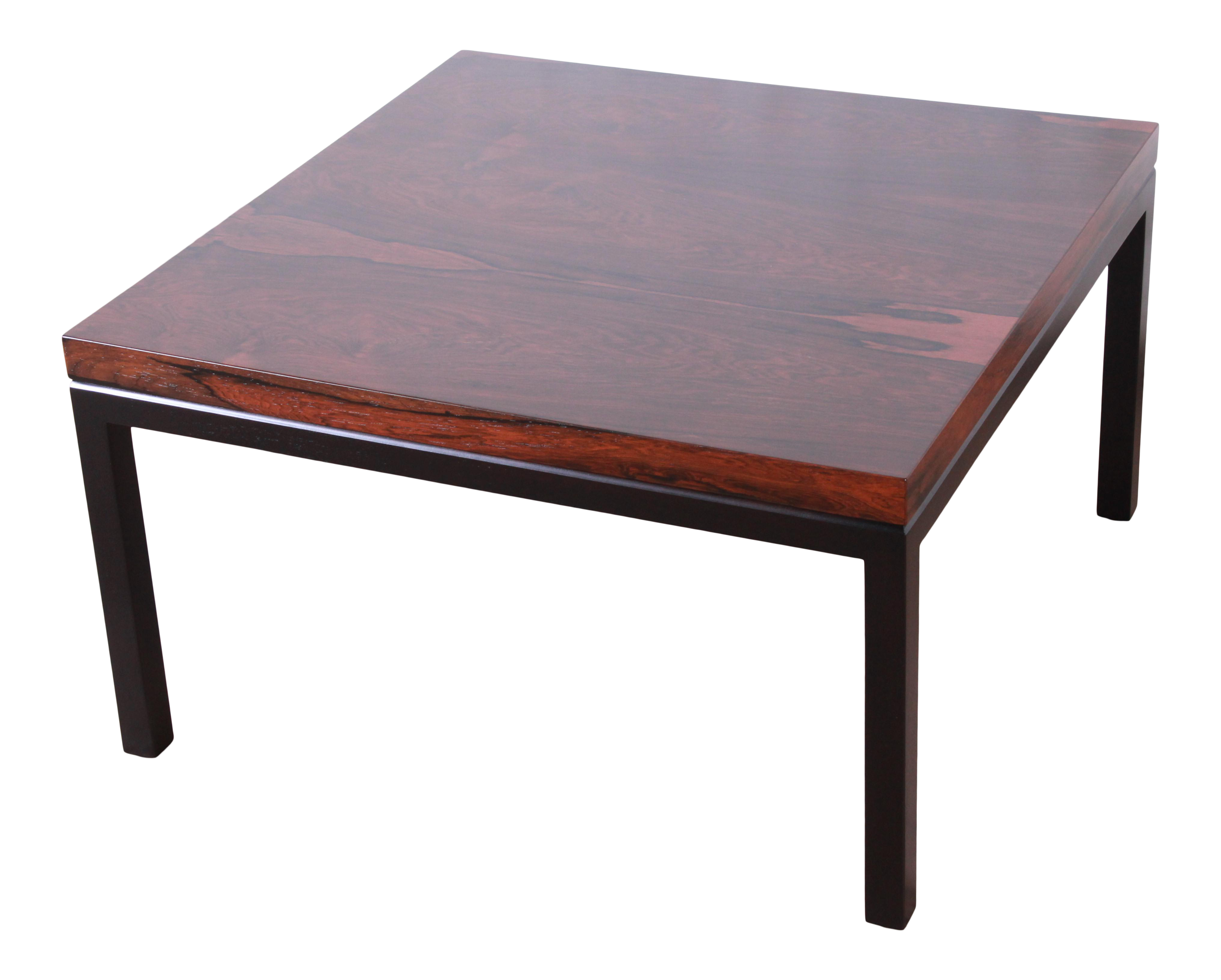 High End Milo Baughman For Thayer Coggin Rosewood Coffee Table, Newly  Restored | DECASO