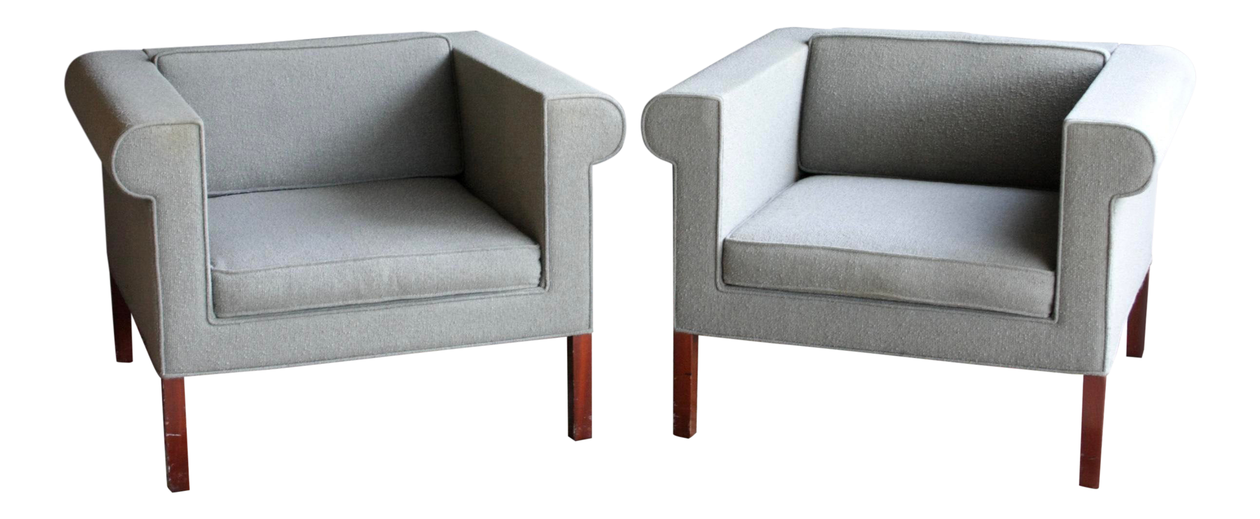 Charles mcmurray postmodern lounge chairs a pair chairish