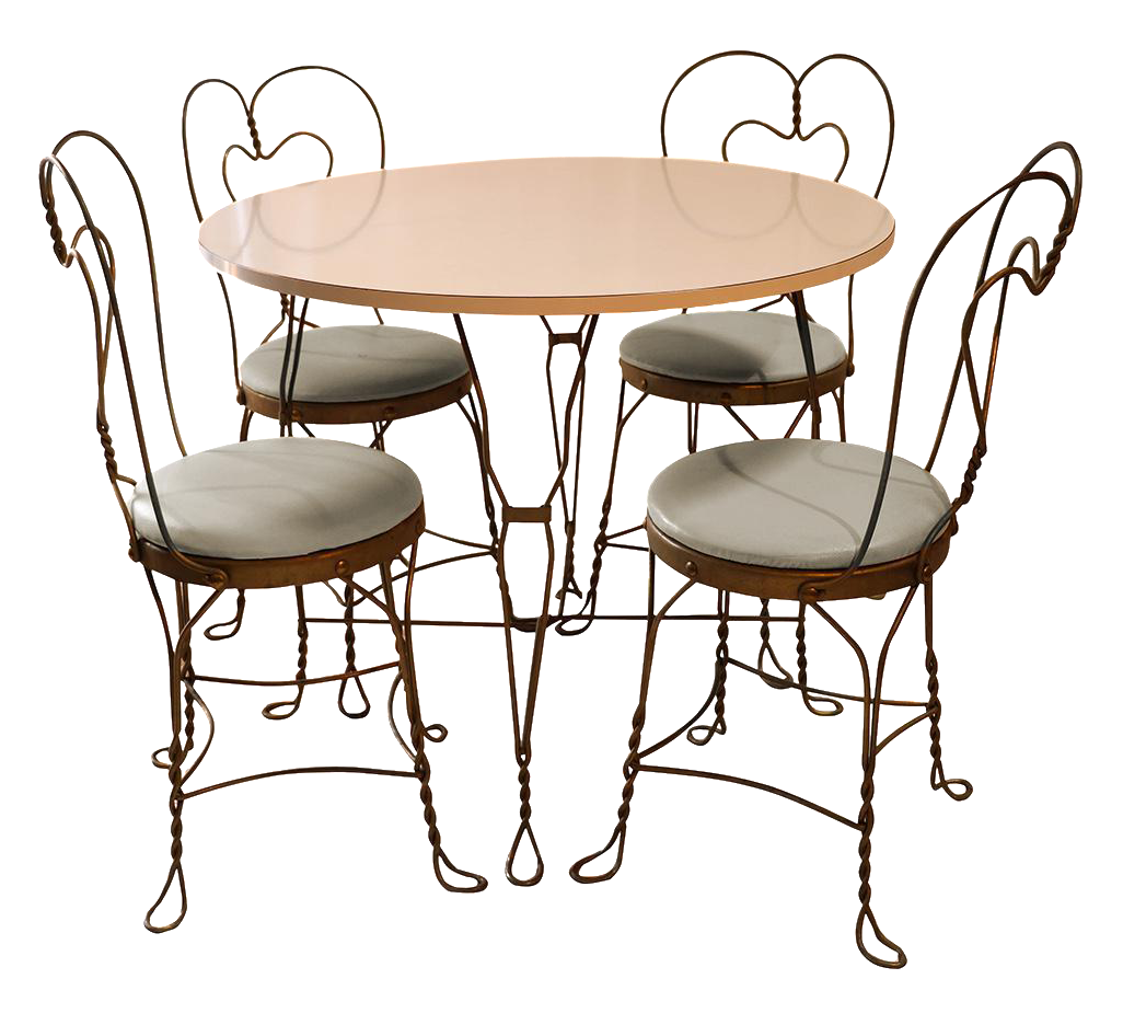 - Vintage Wrought Iron Ice Cream Parlor Set Chairish
