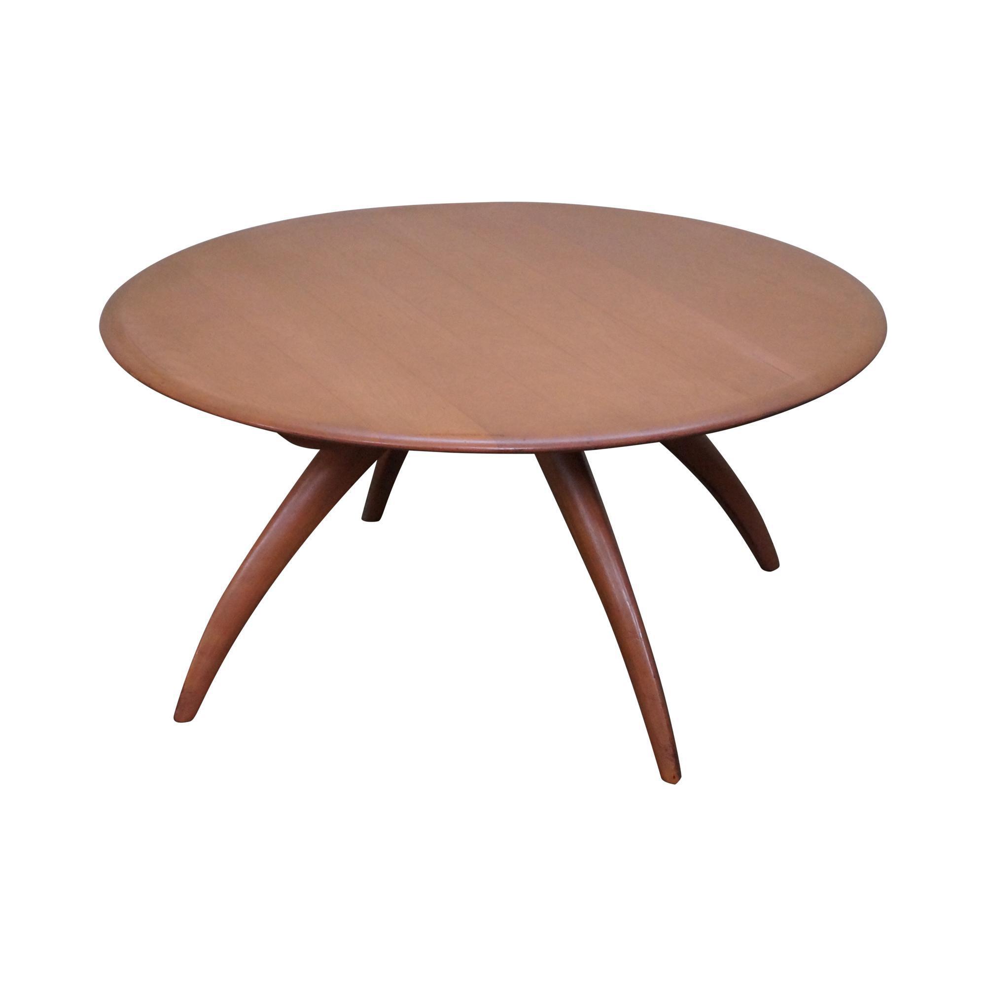 - Heywood Wakefield Revolving Maple Coffee Table Chairish