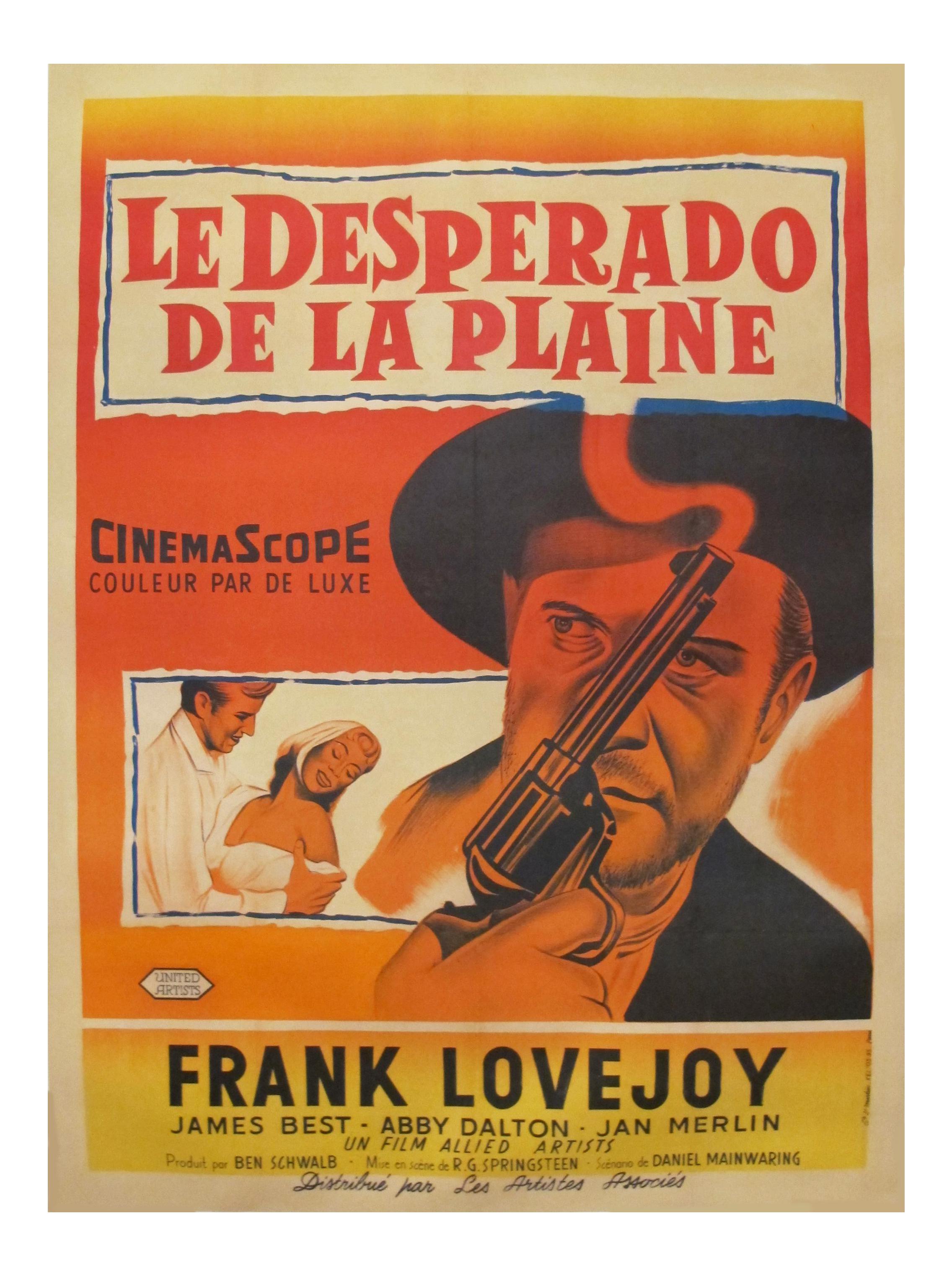 1958 Vintage Movie Poster Desperado De La Plaine Chairish