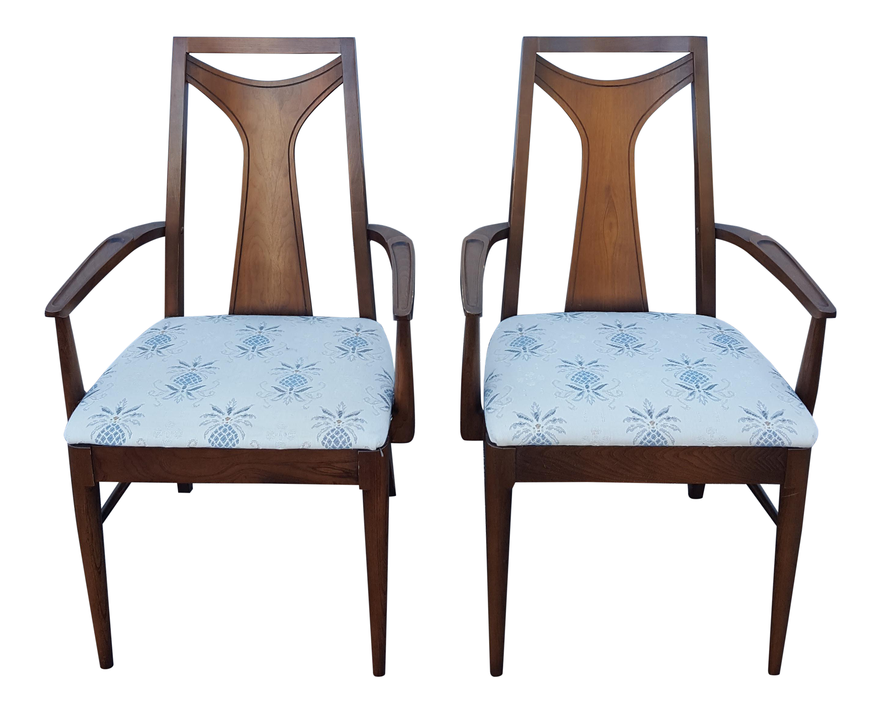 Mid-Century Kent Coffey Perspecta Dining Room Chairs - a Pair
