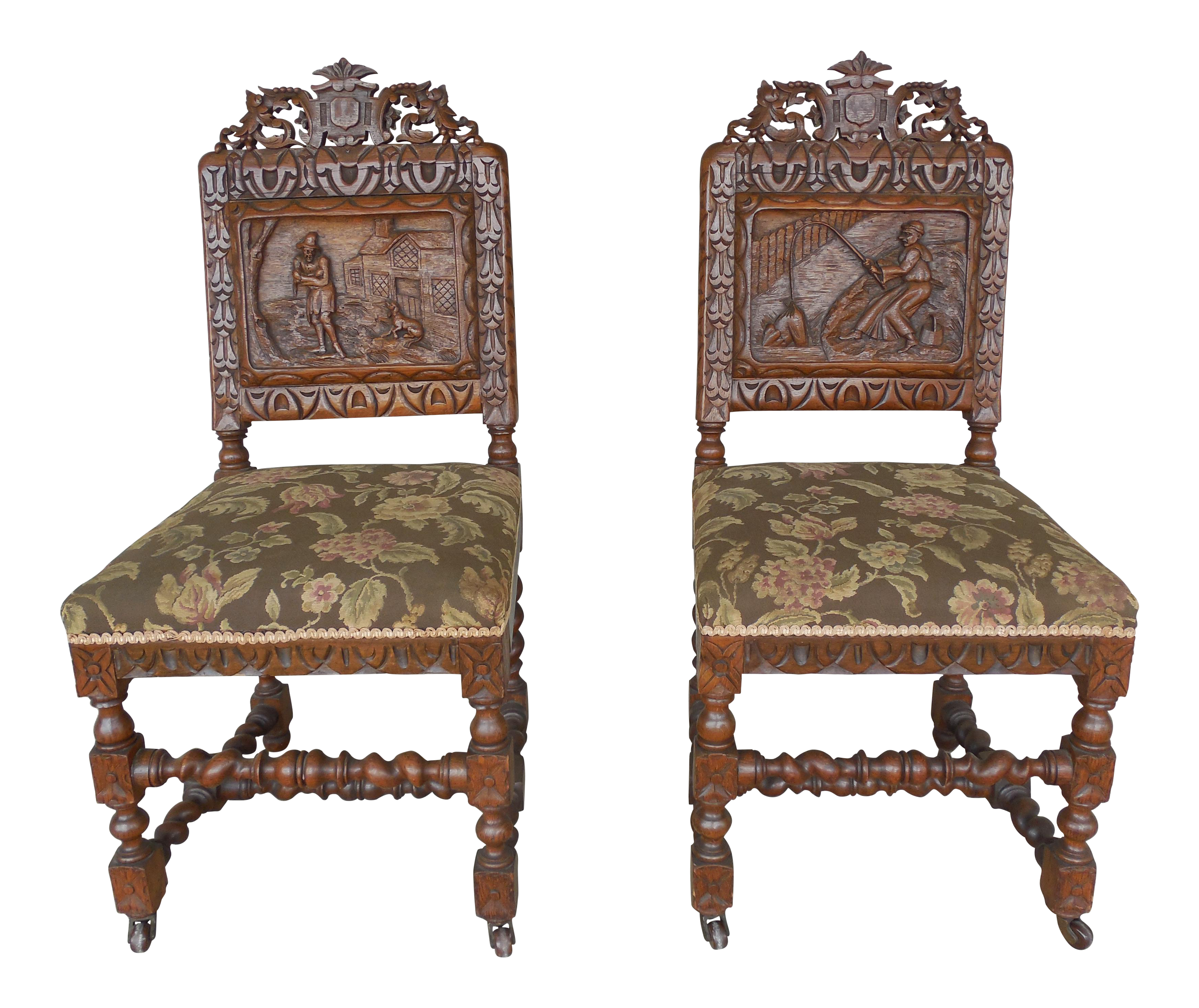 James Shoolbred Tottenham House London Barley Twist Chairs - A Pair | Chairish  sc 1 st  Chairish & James Shoolbred Tottenham House London Barley Twist Chairs - A Pair ...