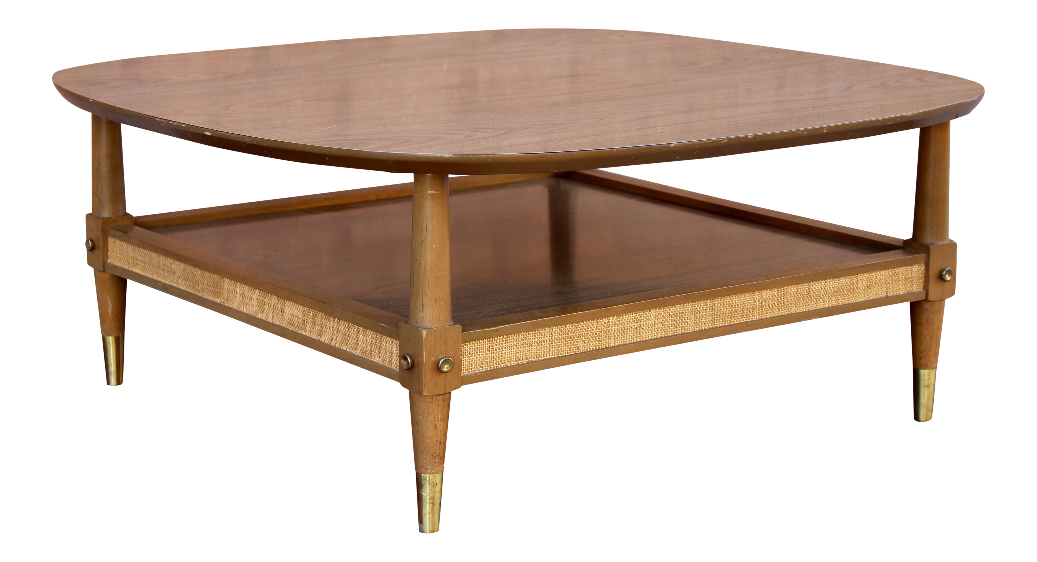 American Of Martinsville Mid Century Modern Square Coffee Table Chairish