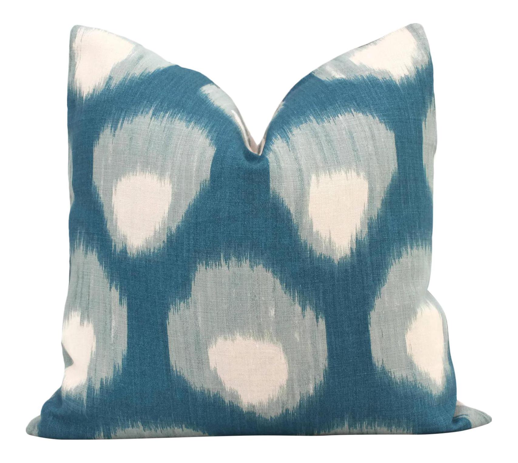 Peacock Blue Throw Pillows - photo#40