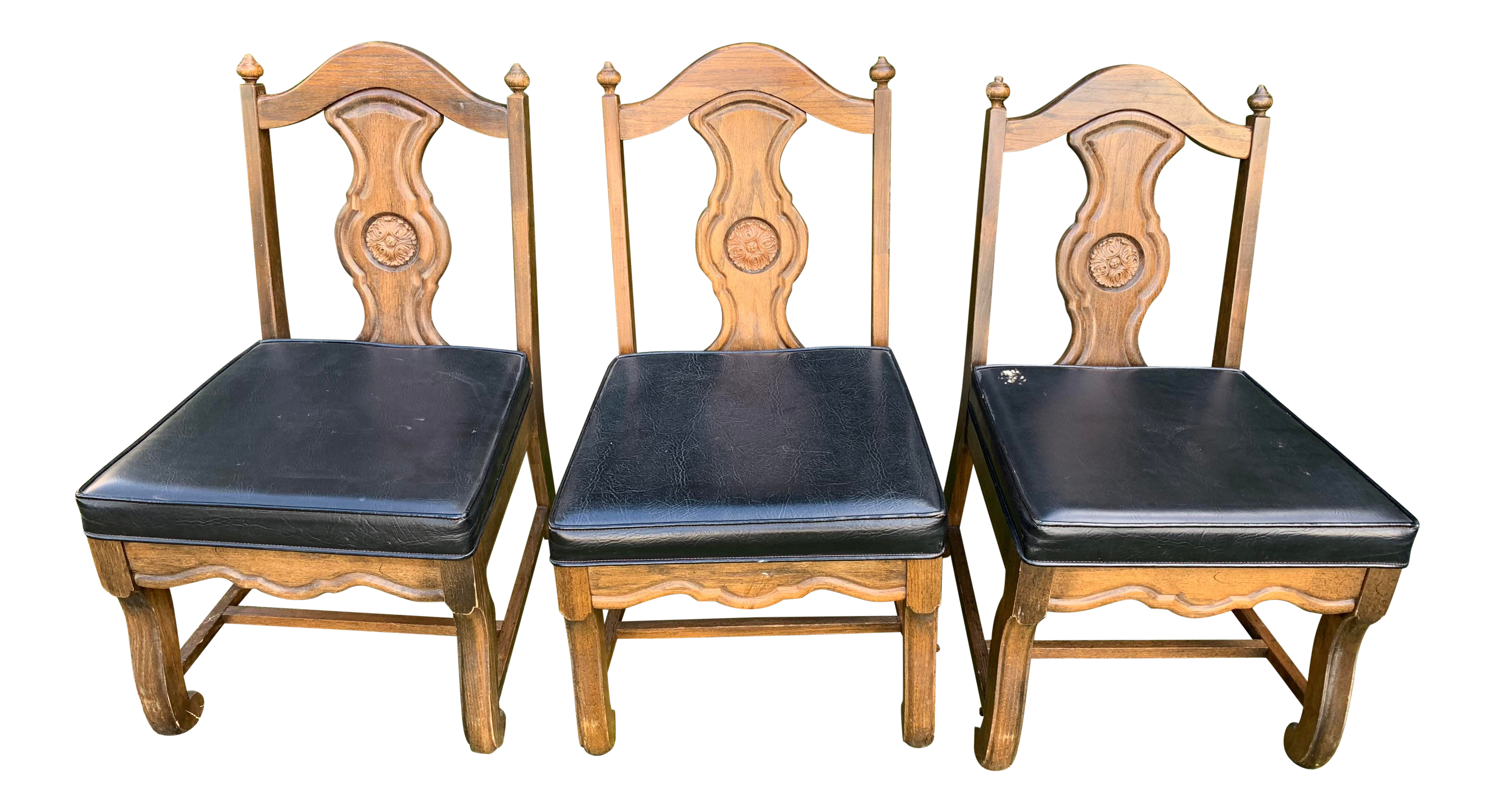 1950s mid century modern howard furniture company dinette chairs set of 3 chairish