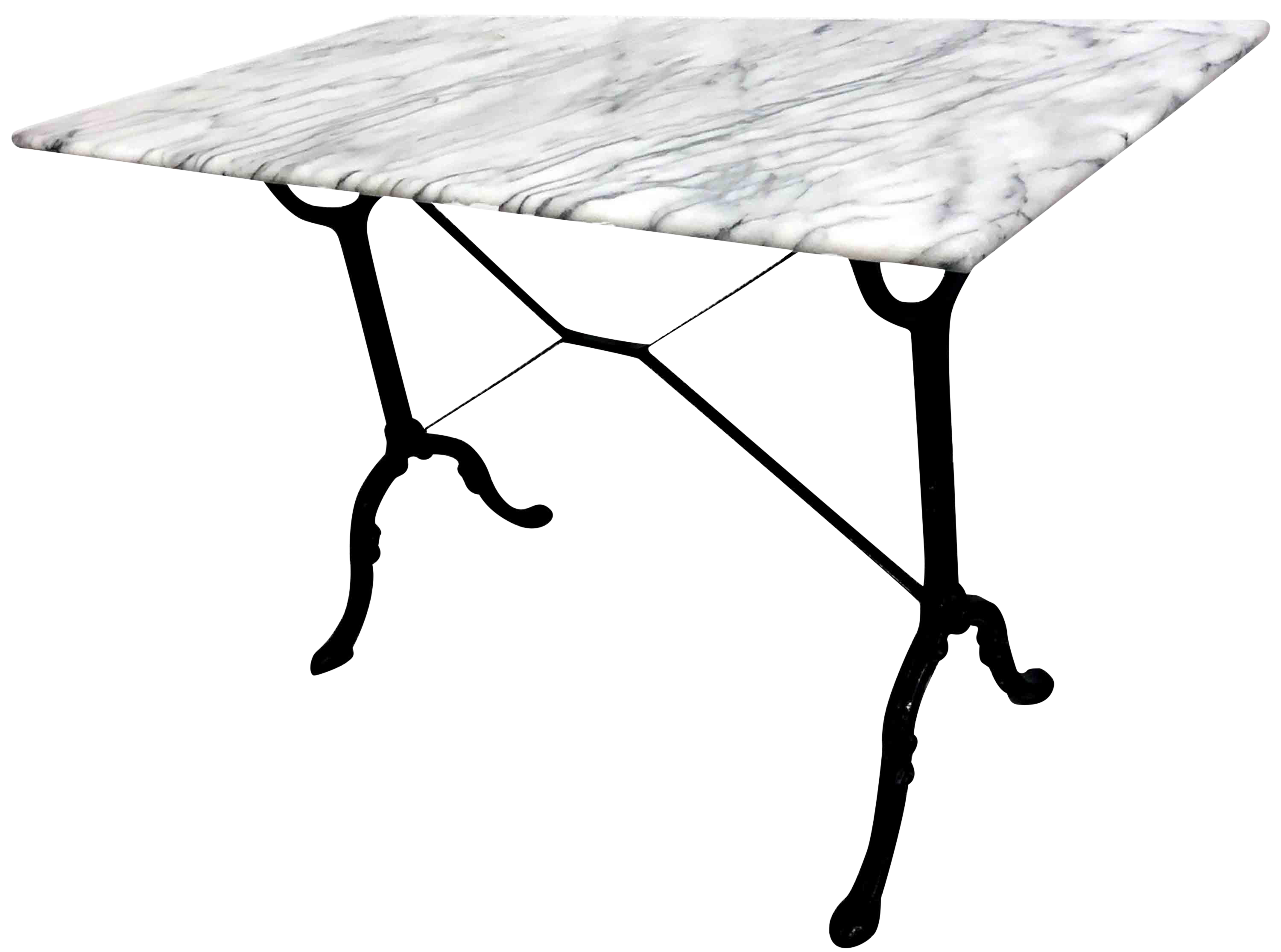 Antique French Cast Iron And Marble Bistro Table Chairish