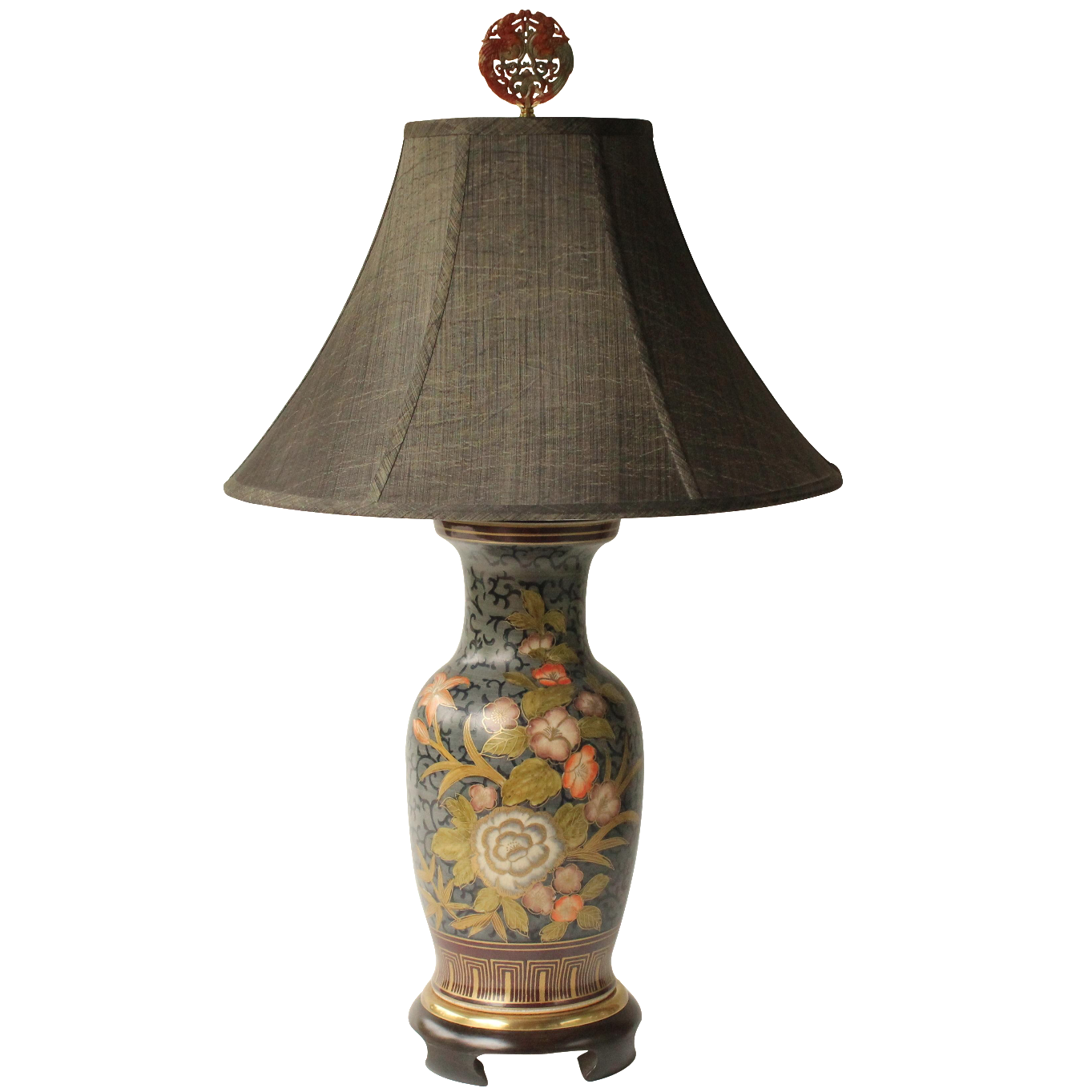 Frederick cooper floral vase table lamp chairish