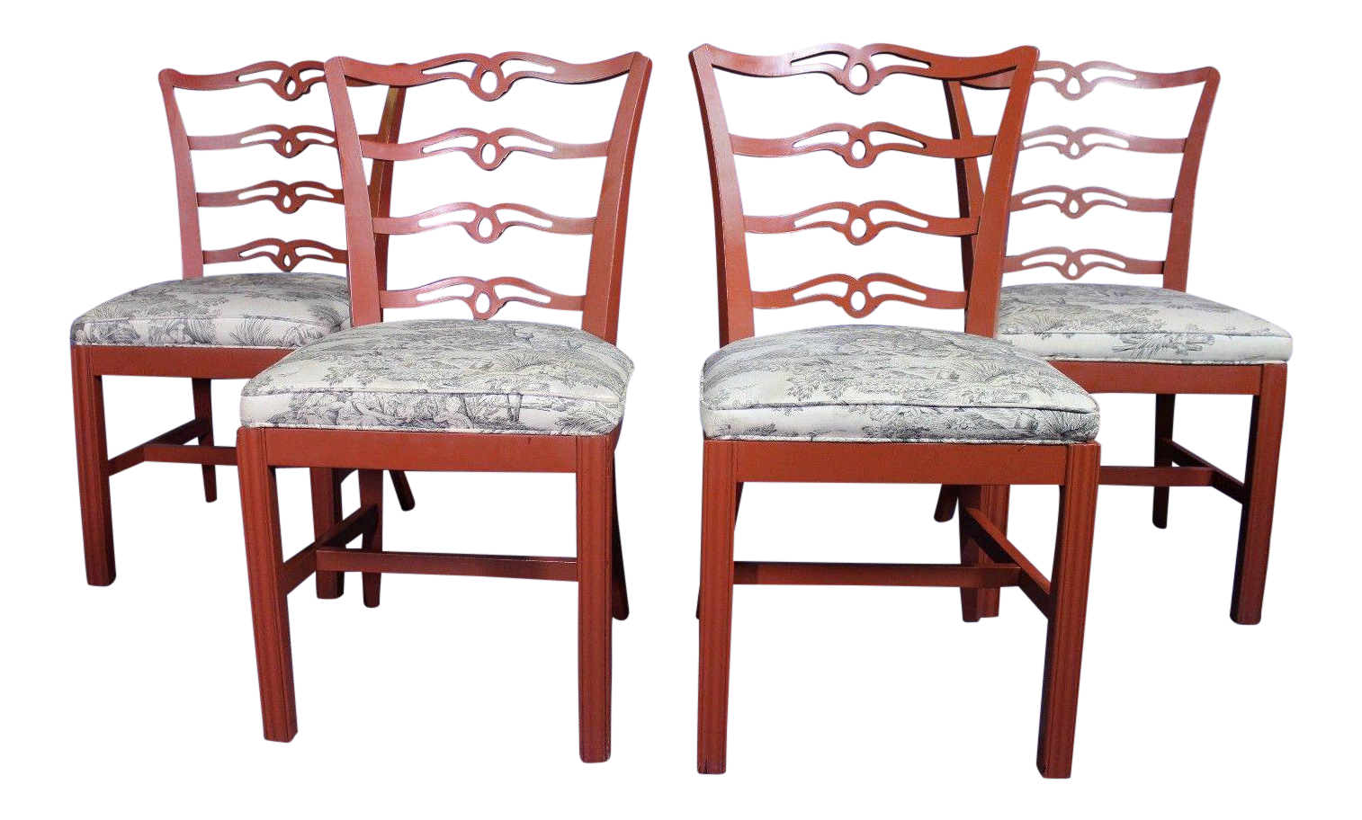 - Red Painted Antique Dining Chairs - Set Of 4 Chairish