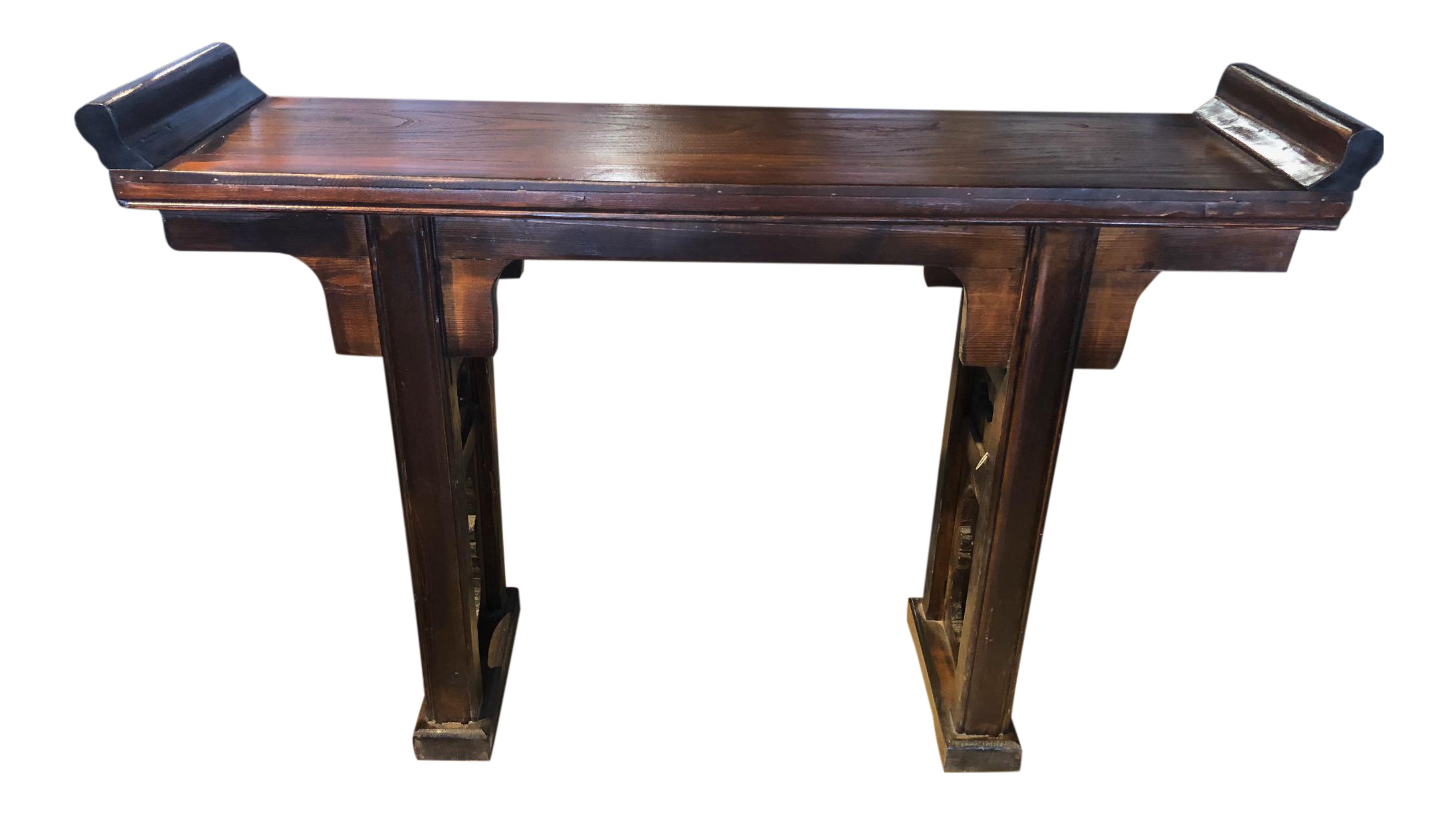 Asian Style Distressed Altar Console Table Chairish