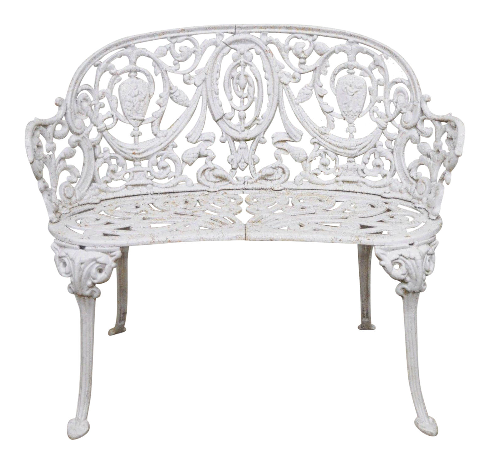 Wondrous Antique Cast Iron Victorian Small Garden Bench French Regency Neoclassical Style Machost Co Dining Chair Design Ideas Machostcouk