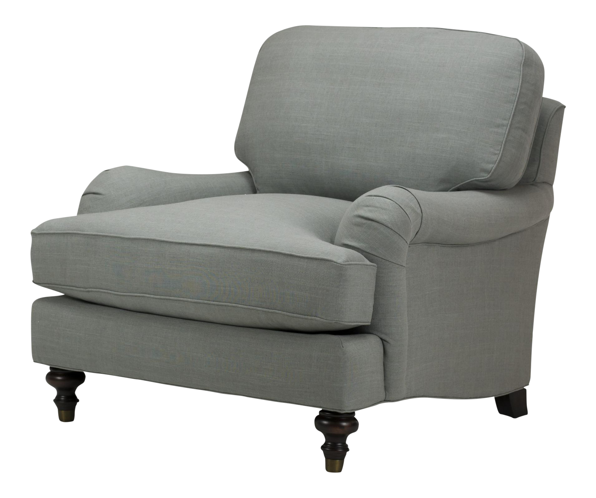 Spectra Home Gray Traditional English Rolled Arm Chair