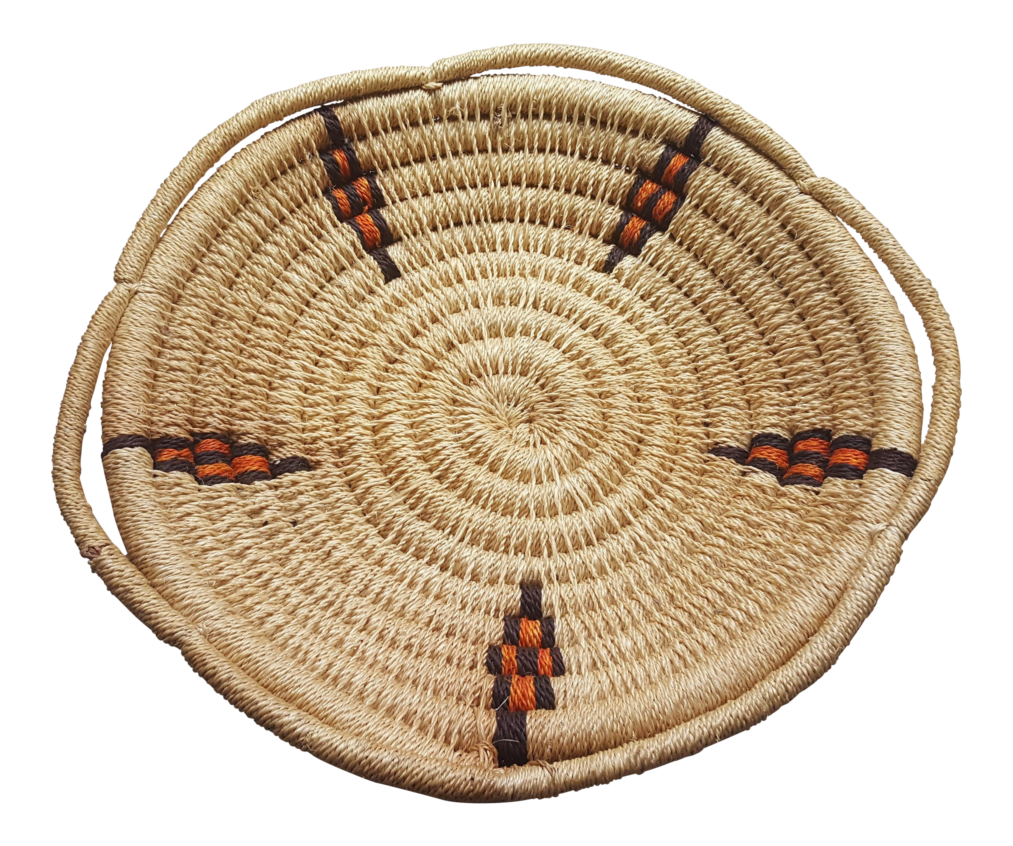 Vintage Woven Basket Tray   Chairish