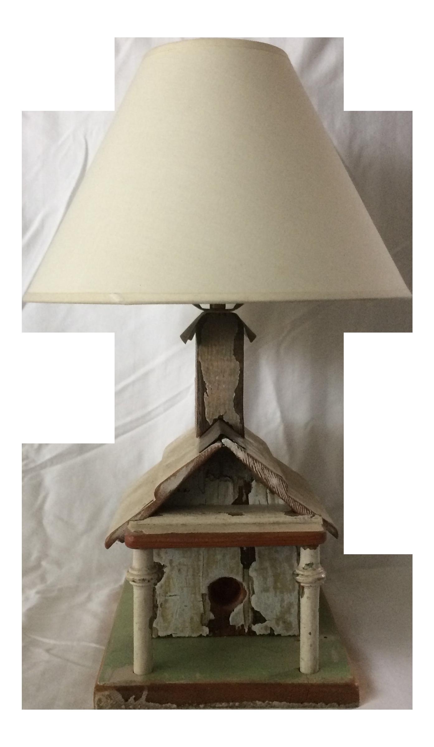 Vintage Table Folk Bird House Lamp Eh9wdi2 Art Side NnOymv8P0w
