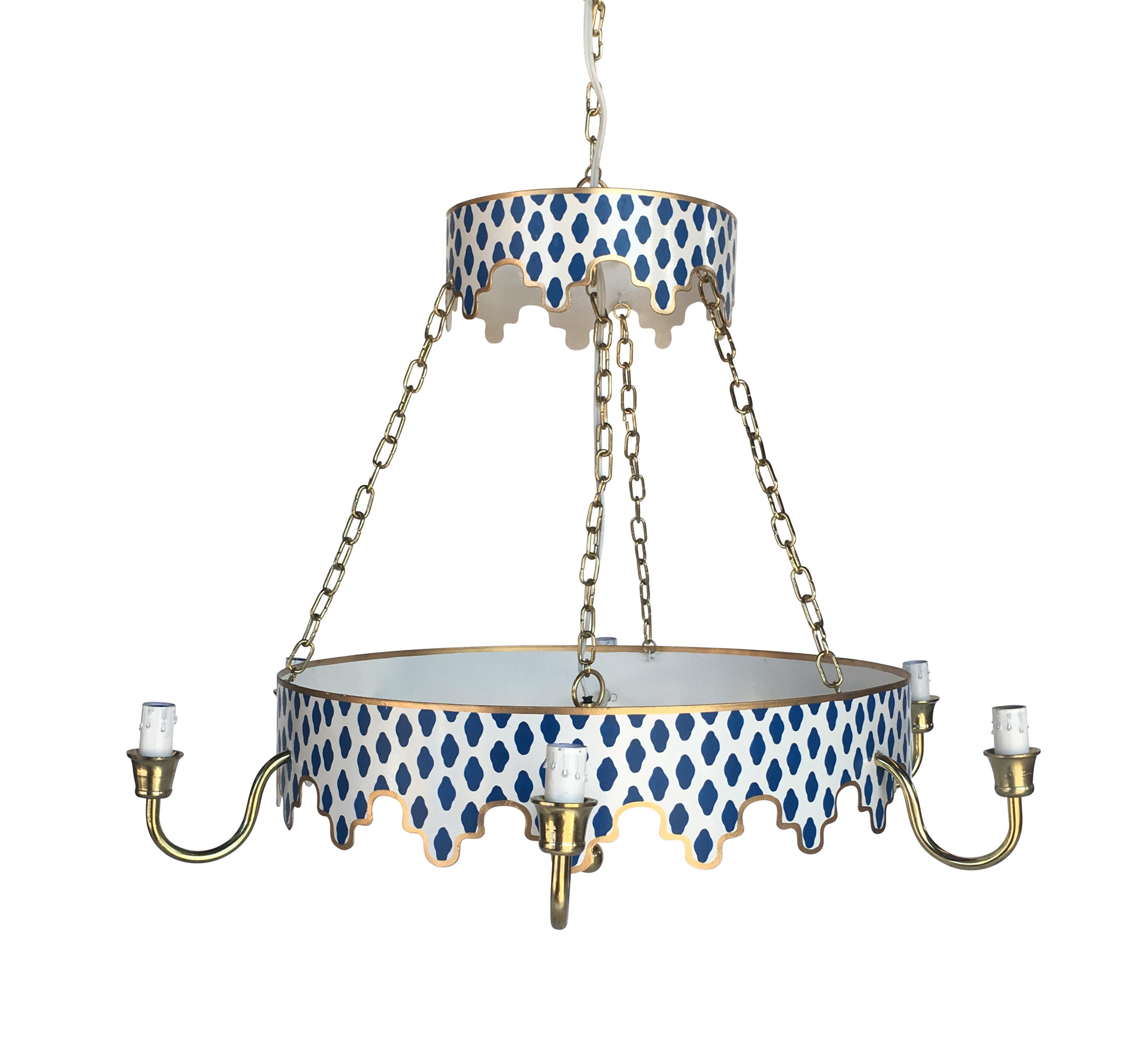Dana gibson navy parsi metal chandelier chairish arubaitofo Images