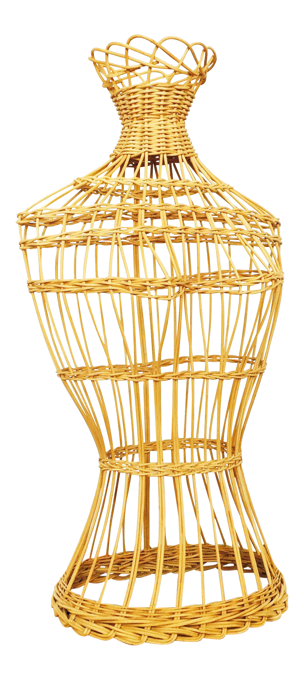 Rattan Torso Dress Form Torso Chairish
