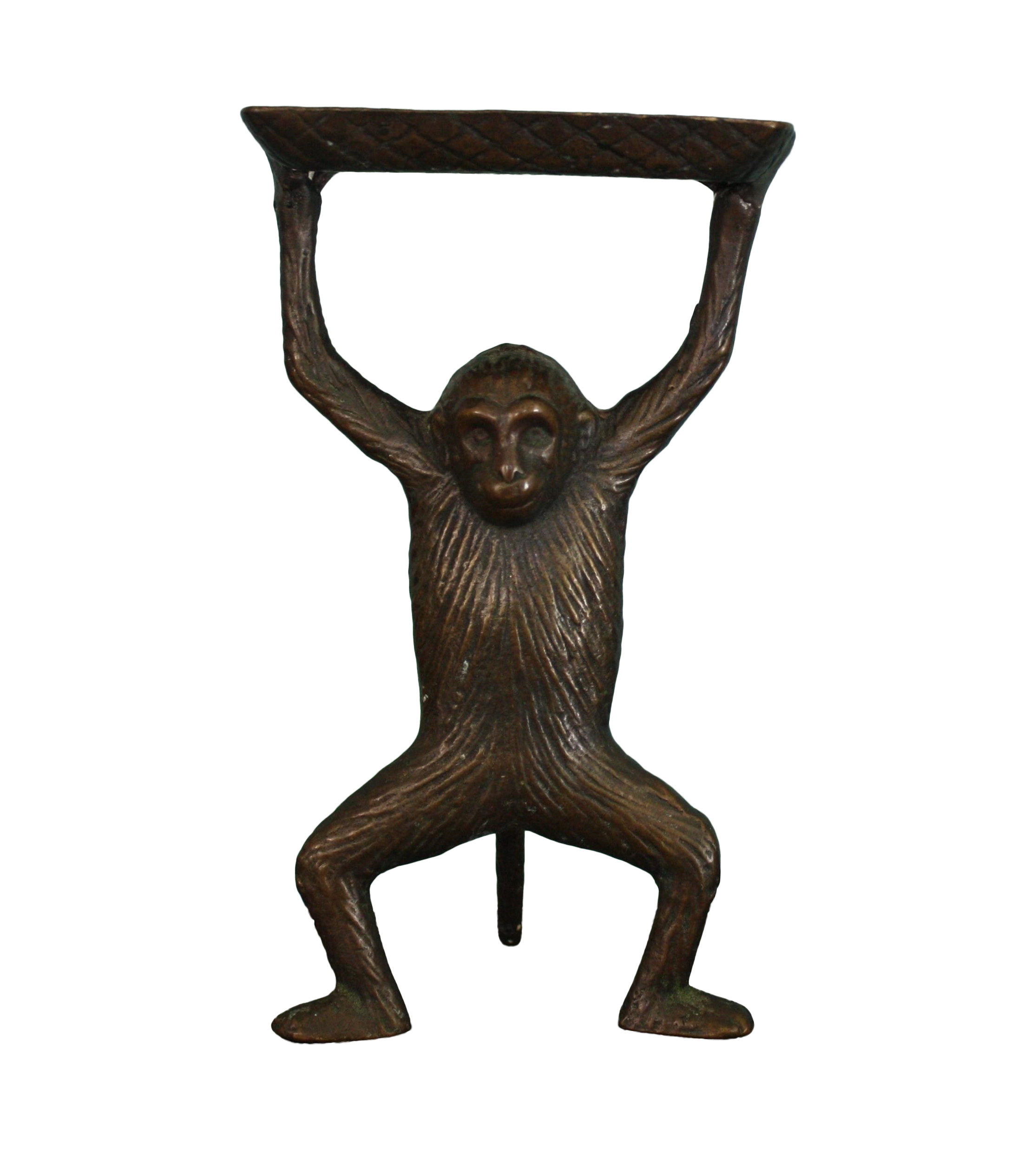Bronze Monkey Business Card Holder | Chairish