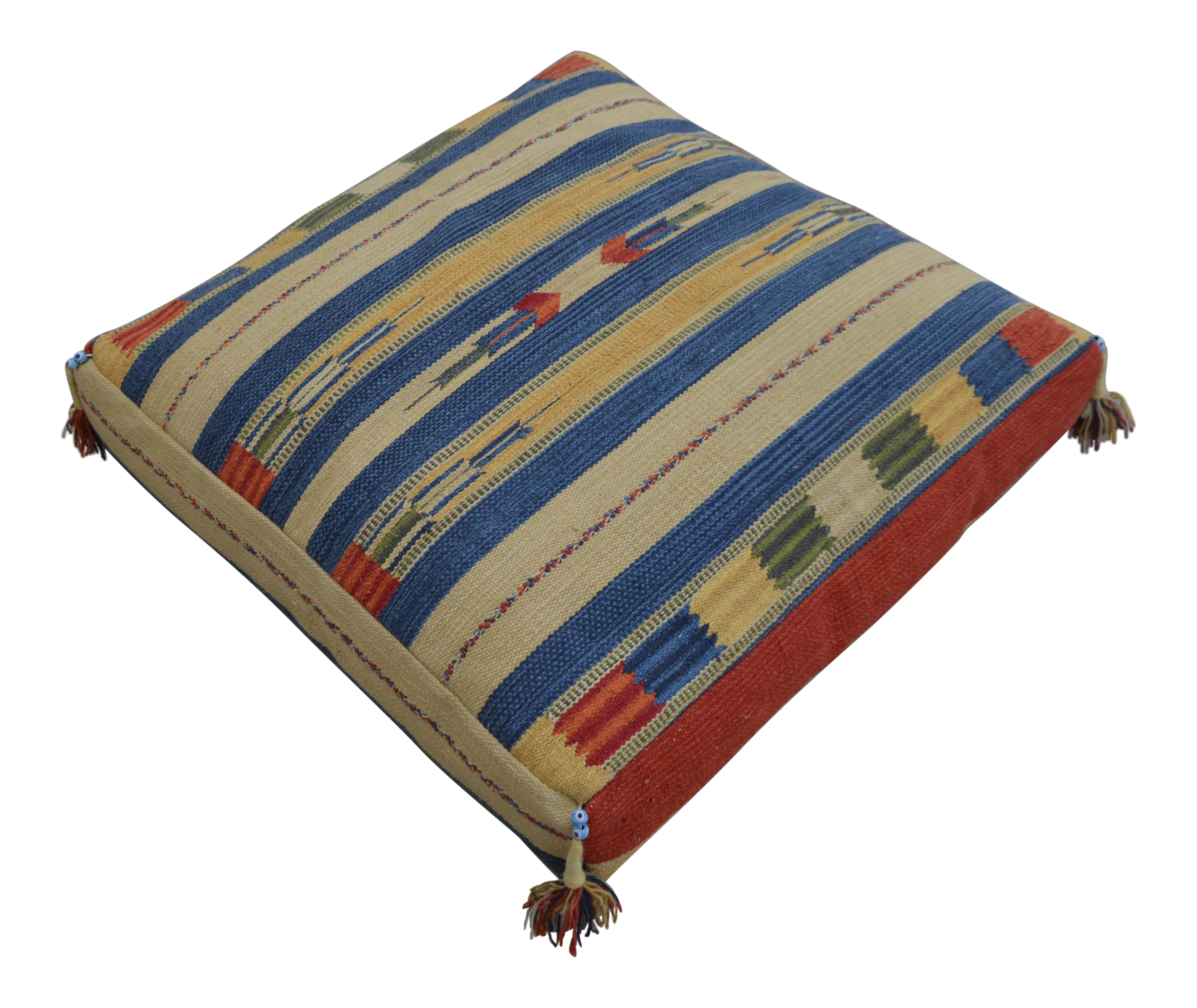 Turkish Hand Woven Kilim Floor Pillow - 30? X 30? Chairish