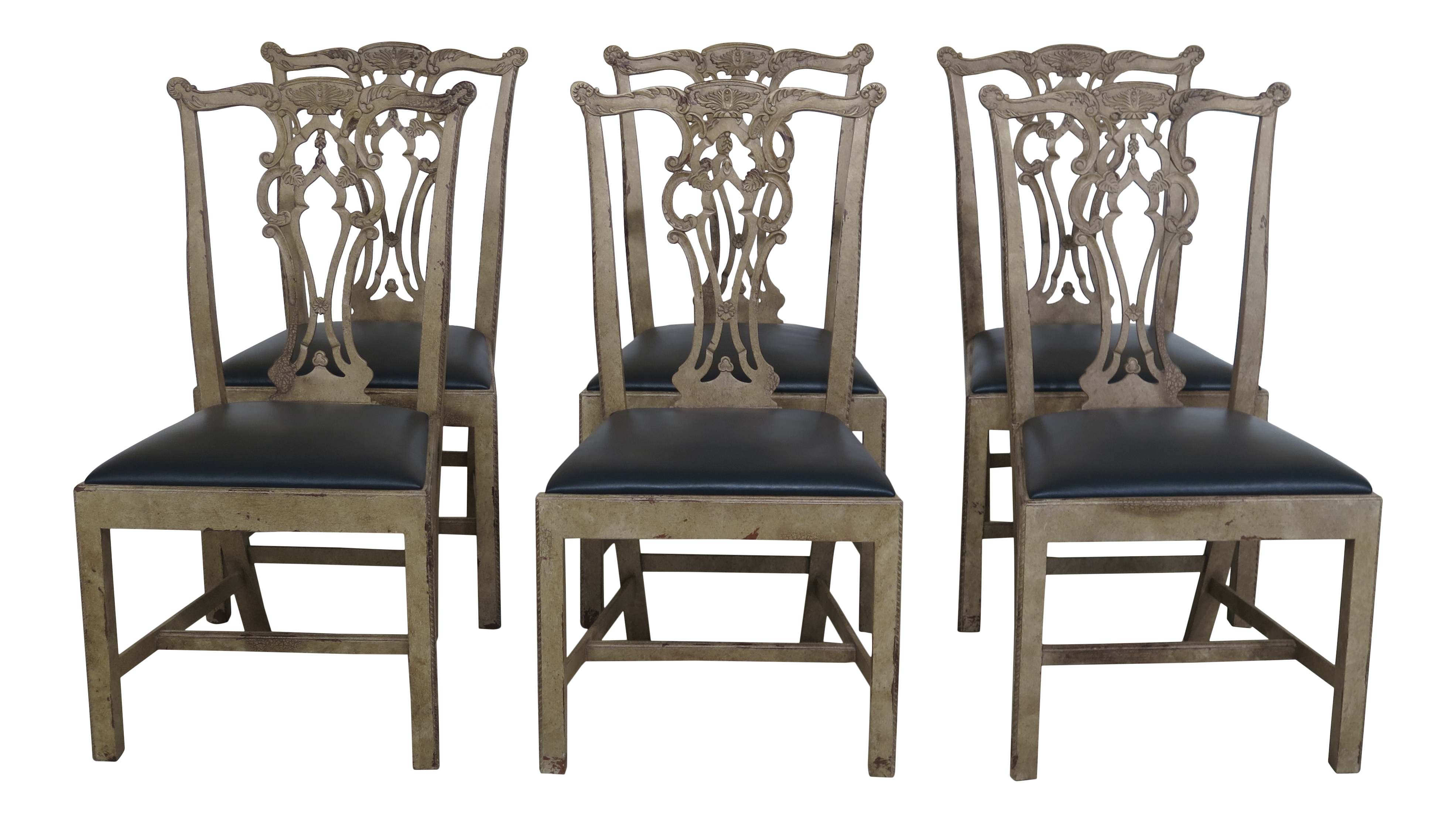 Cucina Letters Kitchen Decor, Hickory Chair Co Paint Decorated Dining Room Chairs Set Of 6 Chairish