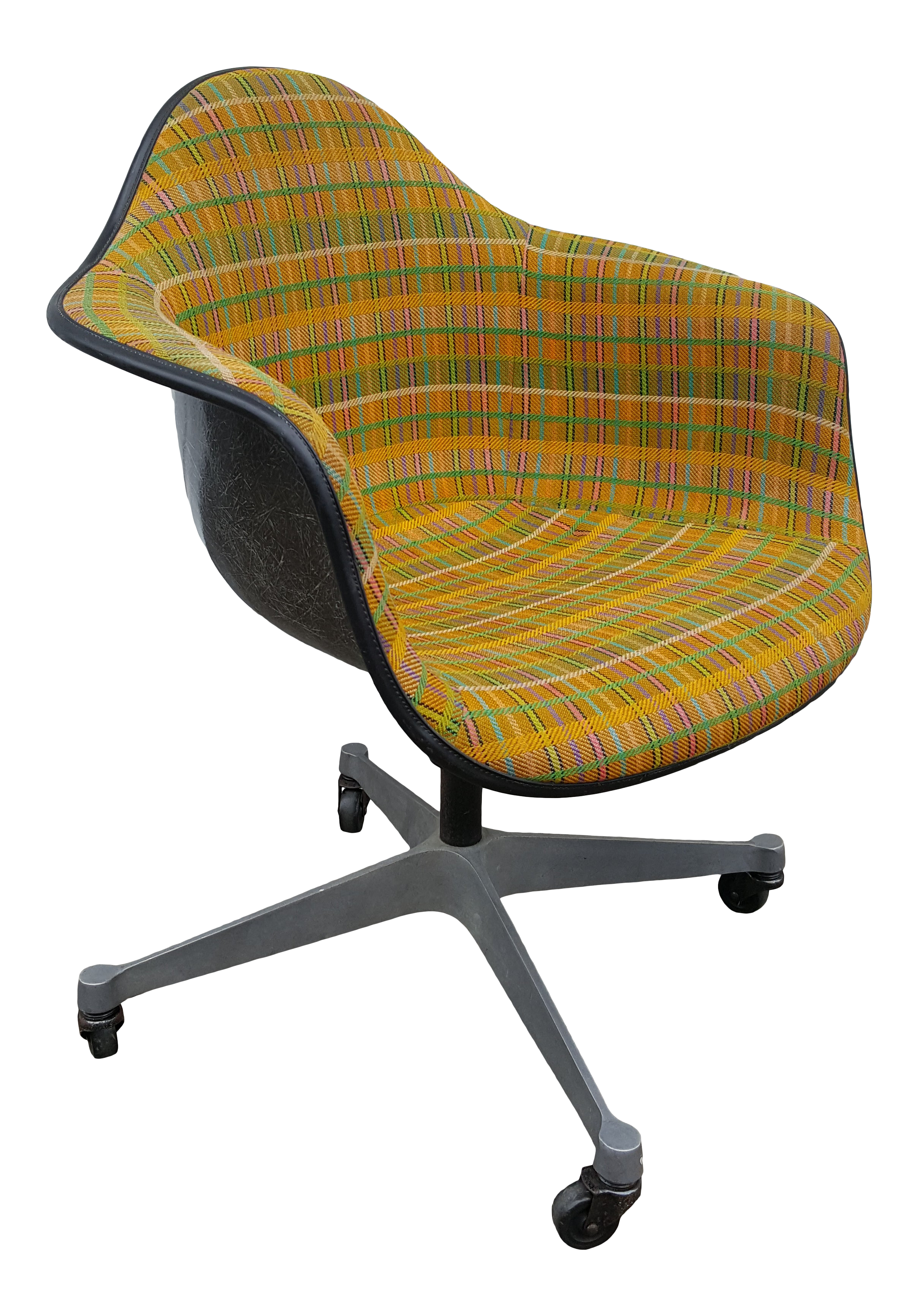 Image of: Vintage Herman Miller Rolling Shell Desk Chair Dat 1 Chairish