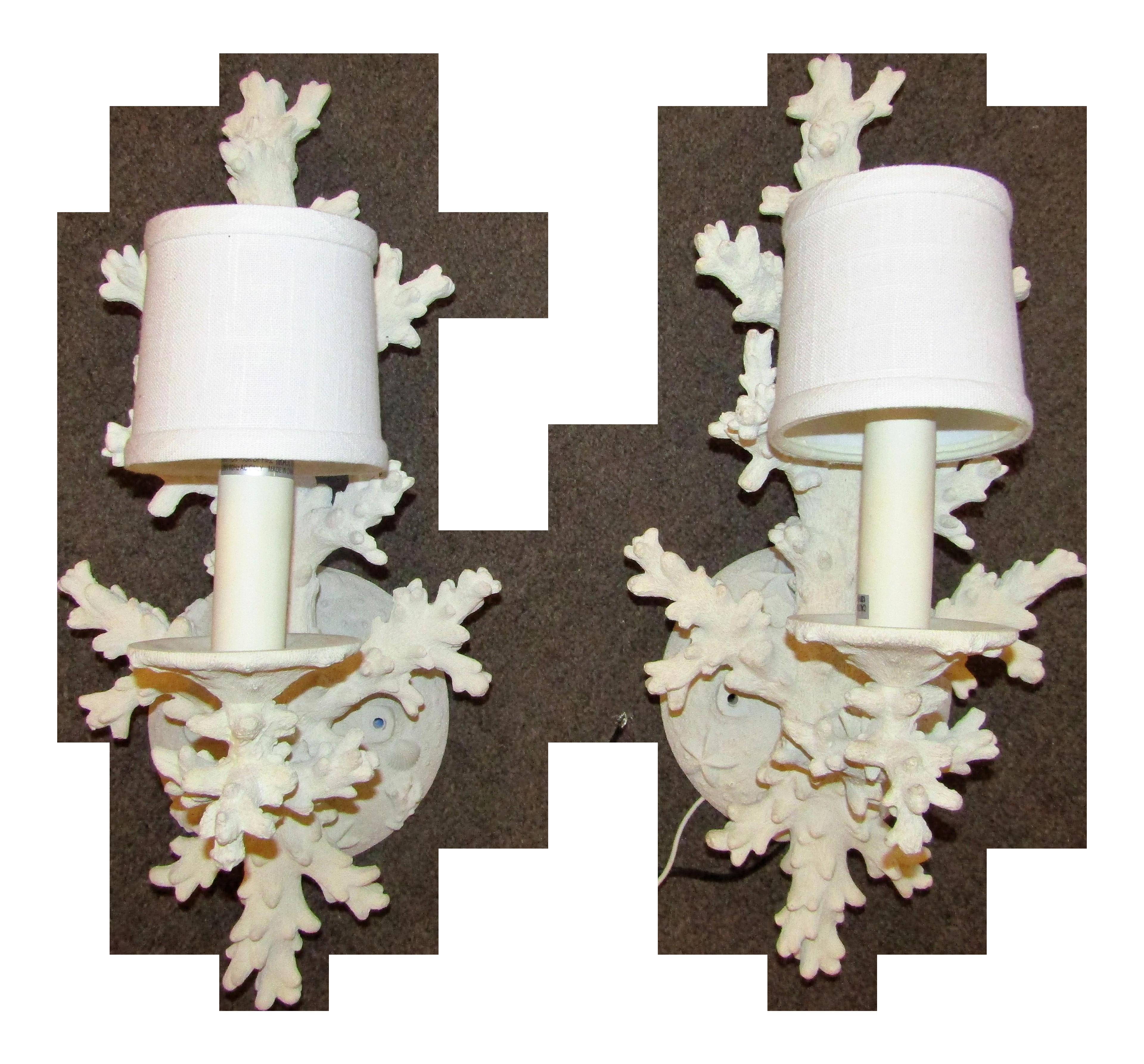 Sculptural Faux Coral Wall Sconces A Pair Chairish