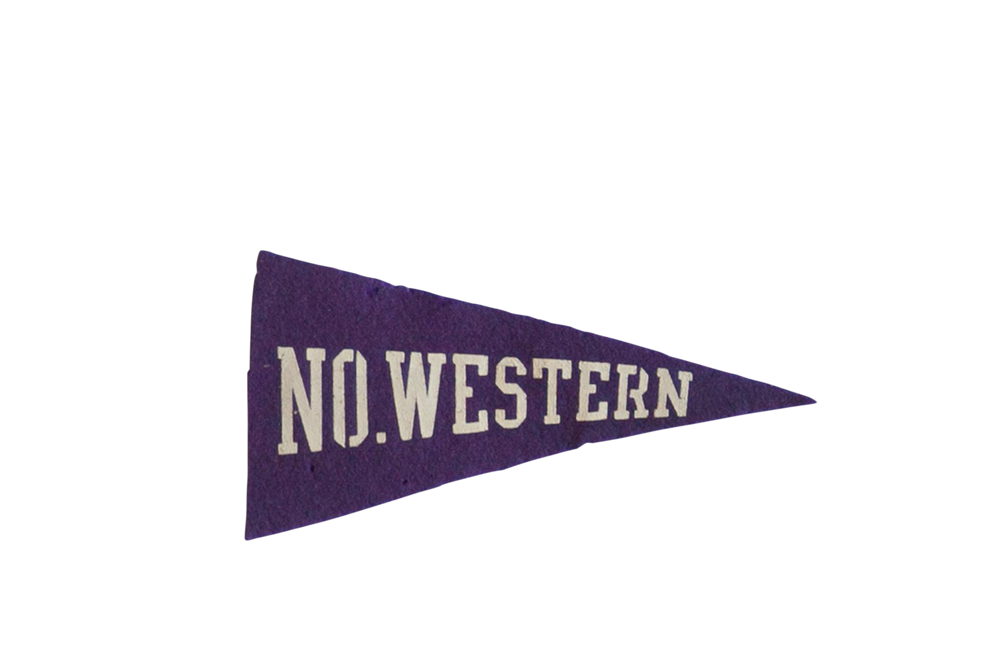 Mini No Western University Felt Flag Pennant Chairish