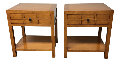 Crate Amp Barrel By Maria Yee Bamboo Side Tables A Pair