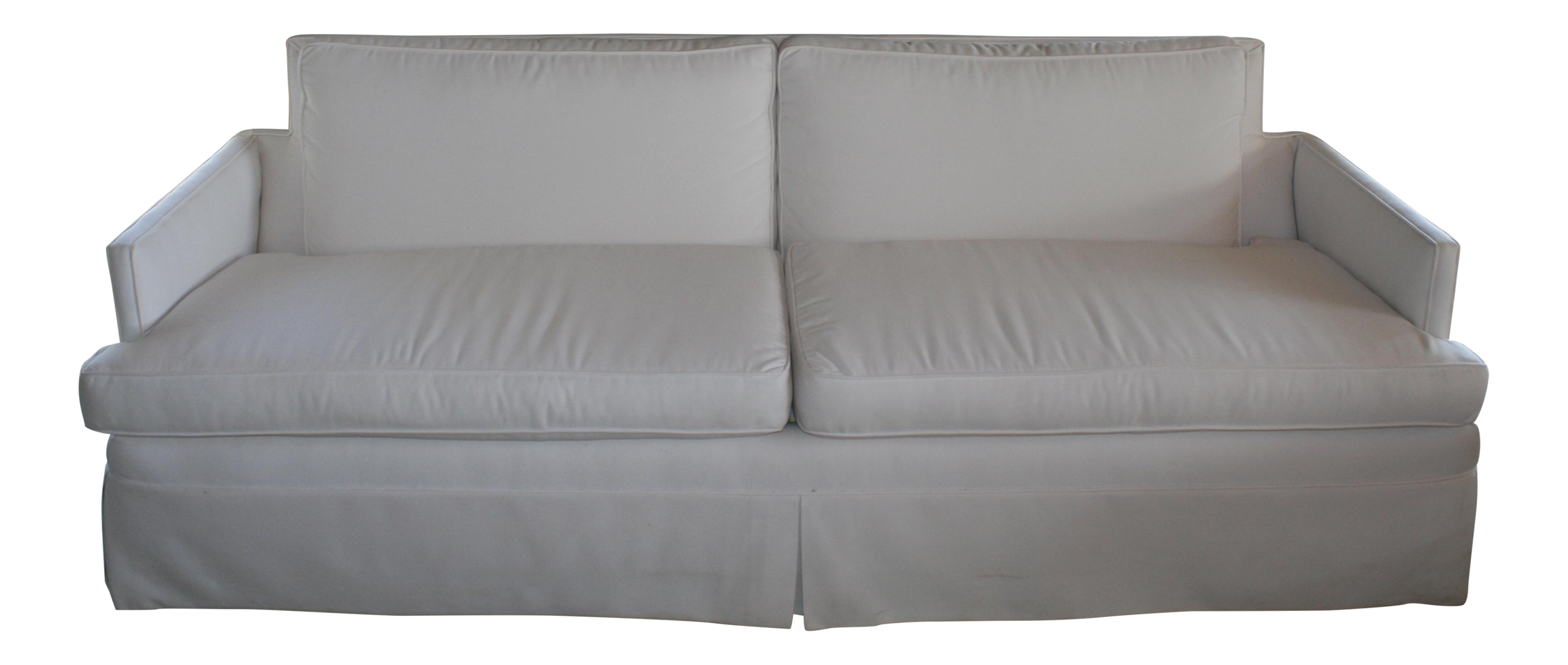Surprising White Sunbrella Mid Century Sofa Cjindustries Chair Design For Home Cjindustriesco