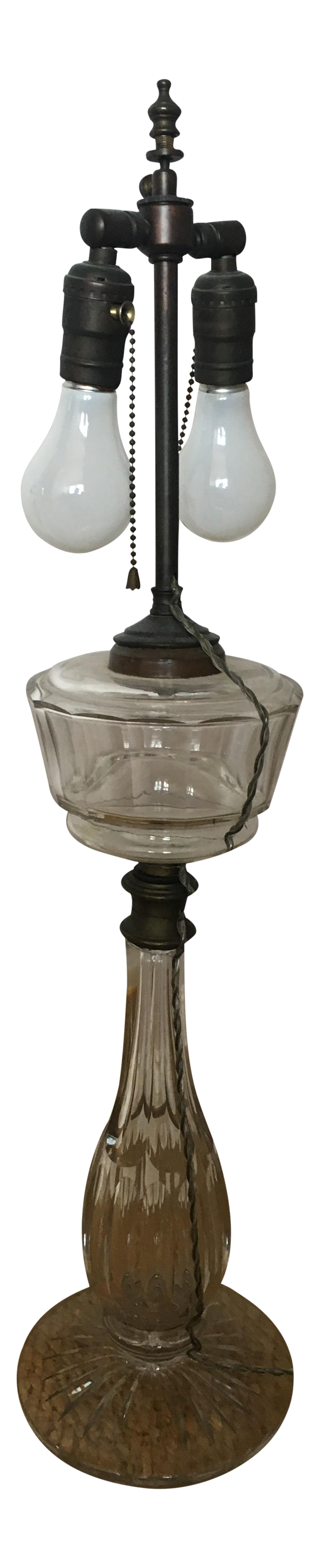 Vintage Leviton Glass Table Lamp Chairish