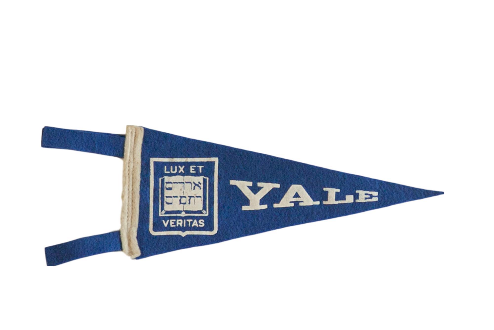 Mini Vintage Yale University Felt Flag Pennant Chairish