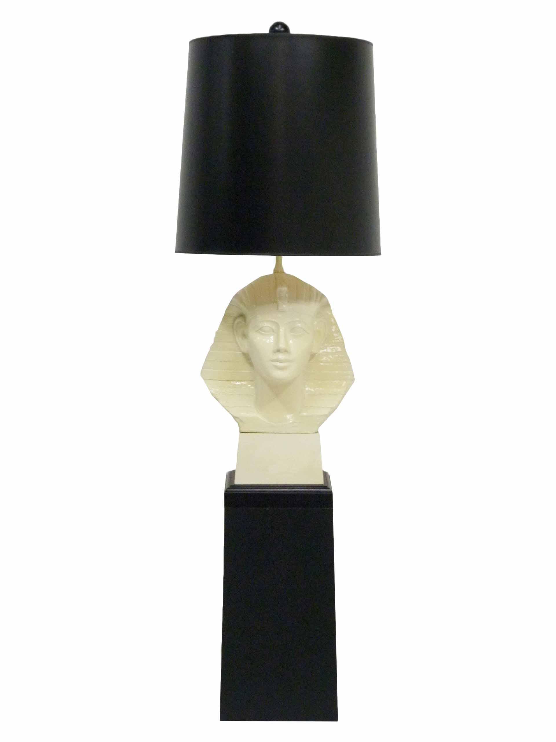 Paul hansen egyptian pharaoh table lamp pedestal chairish aloadofball Images