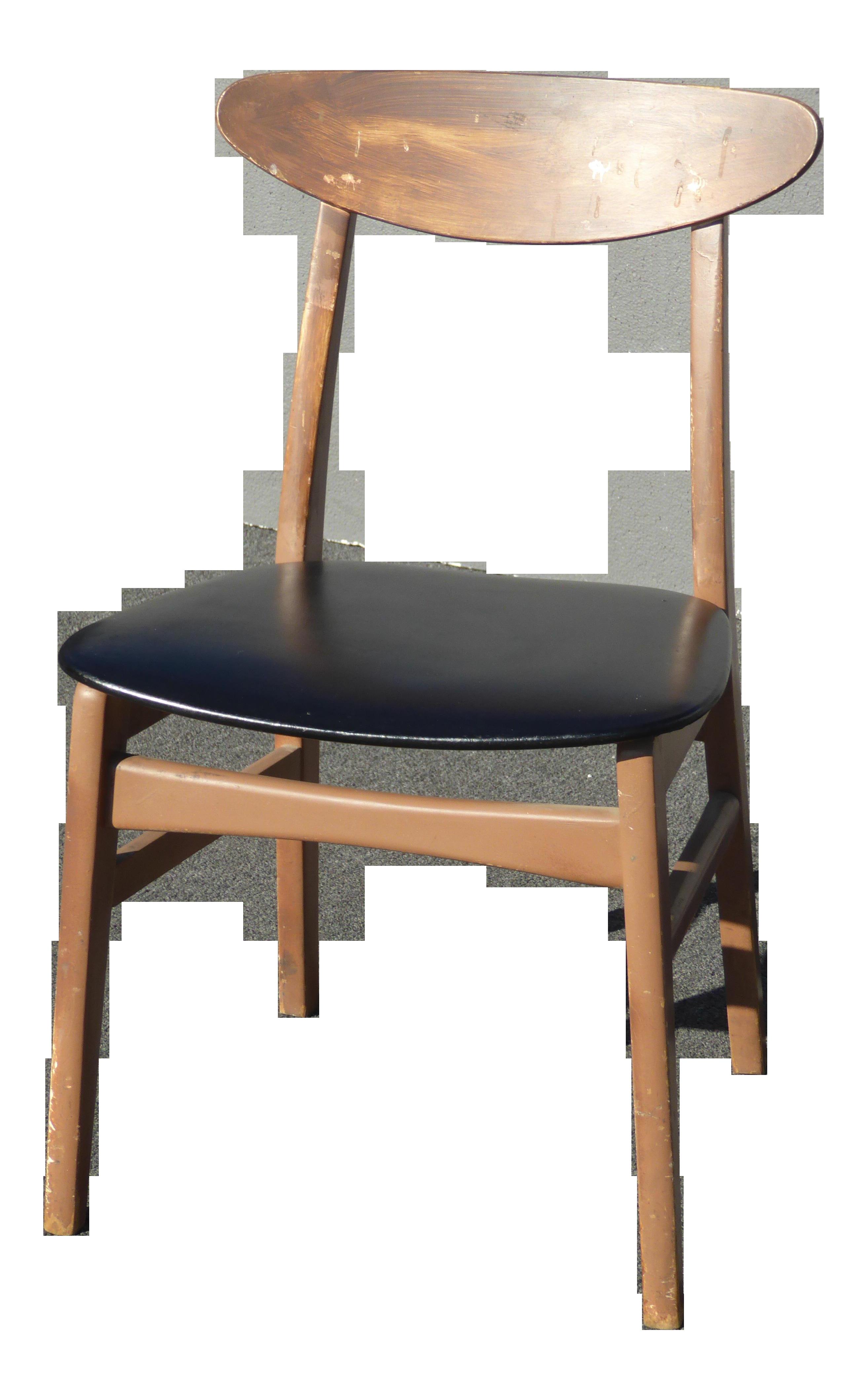 Vintage Mid Century Modern Black Accent Chair Computer Vanity Chair Chairish