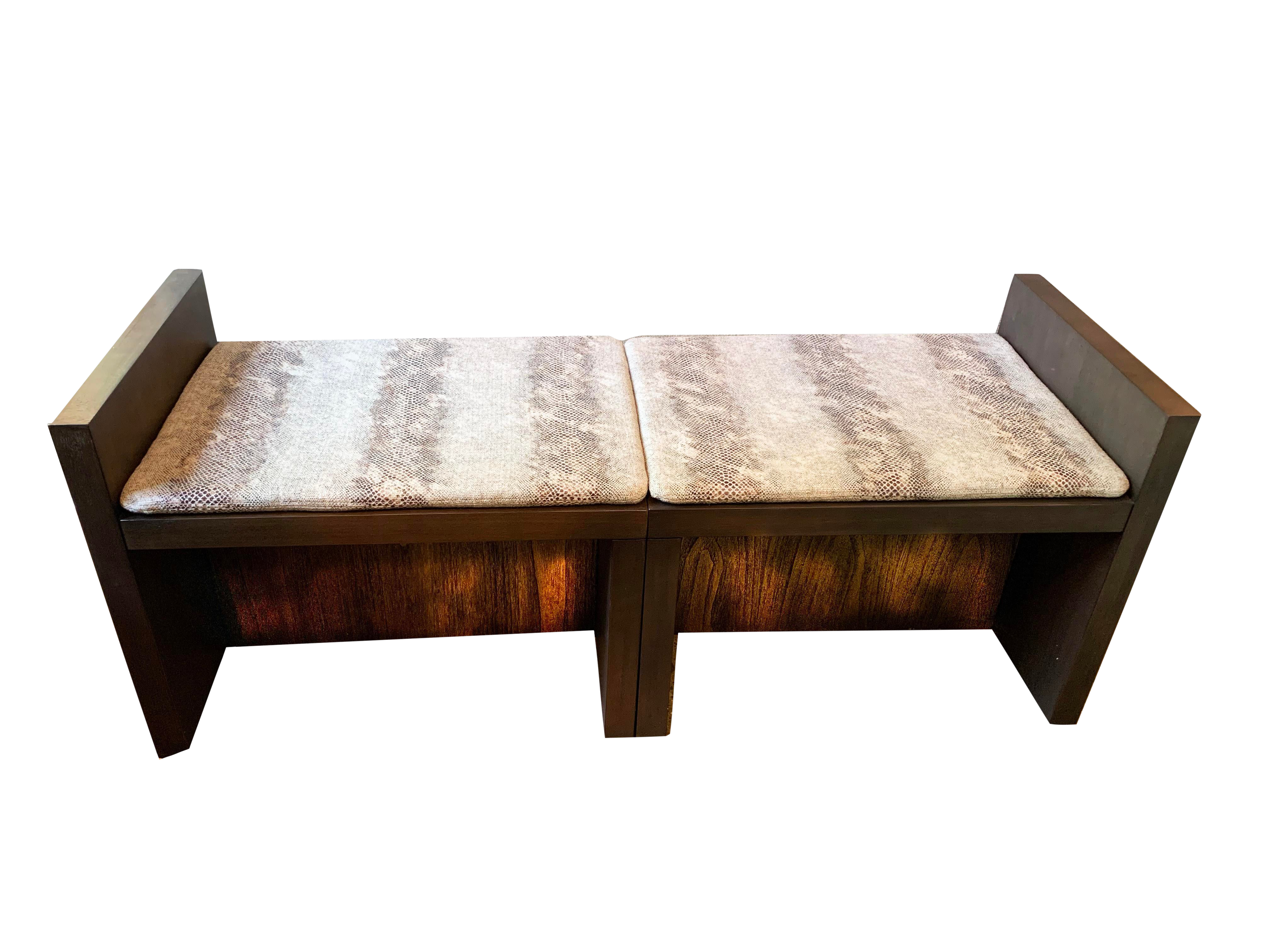 Wondrous Kara Mann For Milling Road Together Benches A Pair Ibusinesslaw Wood Chair Design Ideas Ibusinesslaworg