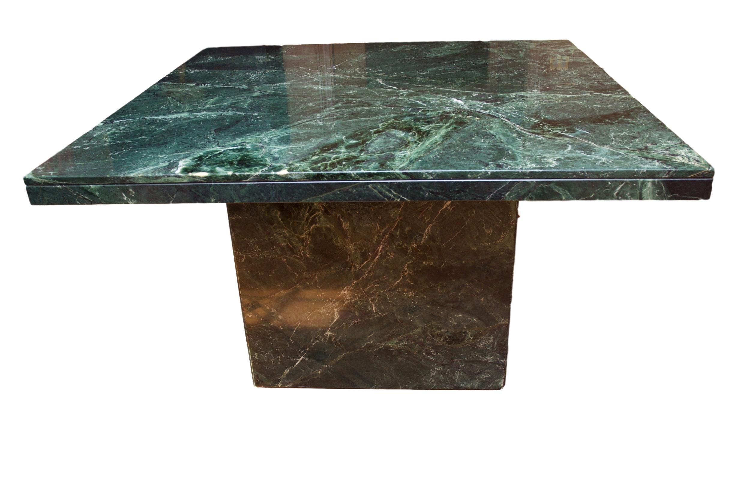 Modern Square Green Marble Dining Table Chairish