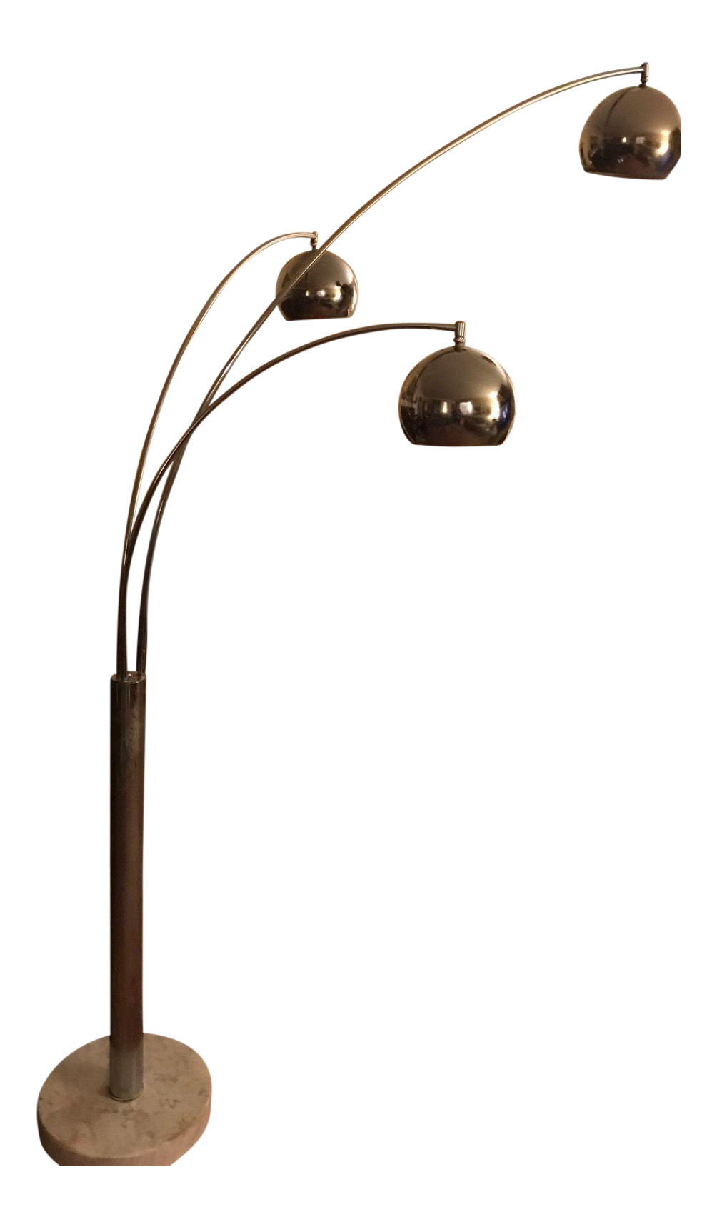 Mid century modern chrome 3 light floor lamp chairish aloadofball Gallery