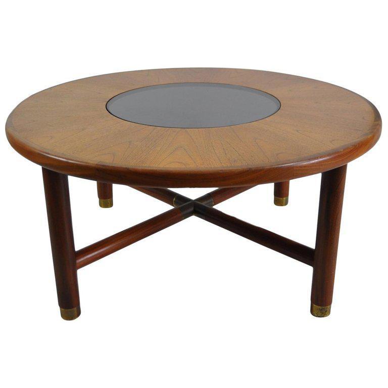 G Plan Mid Century Round Teak And Glass Coffee Table Chairish