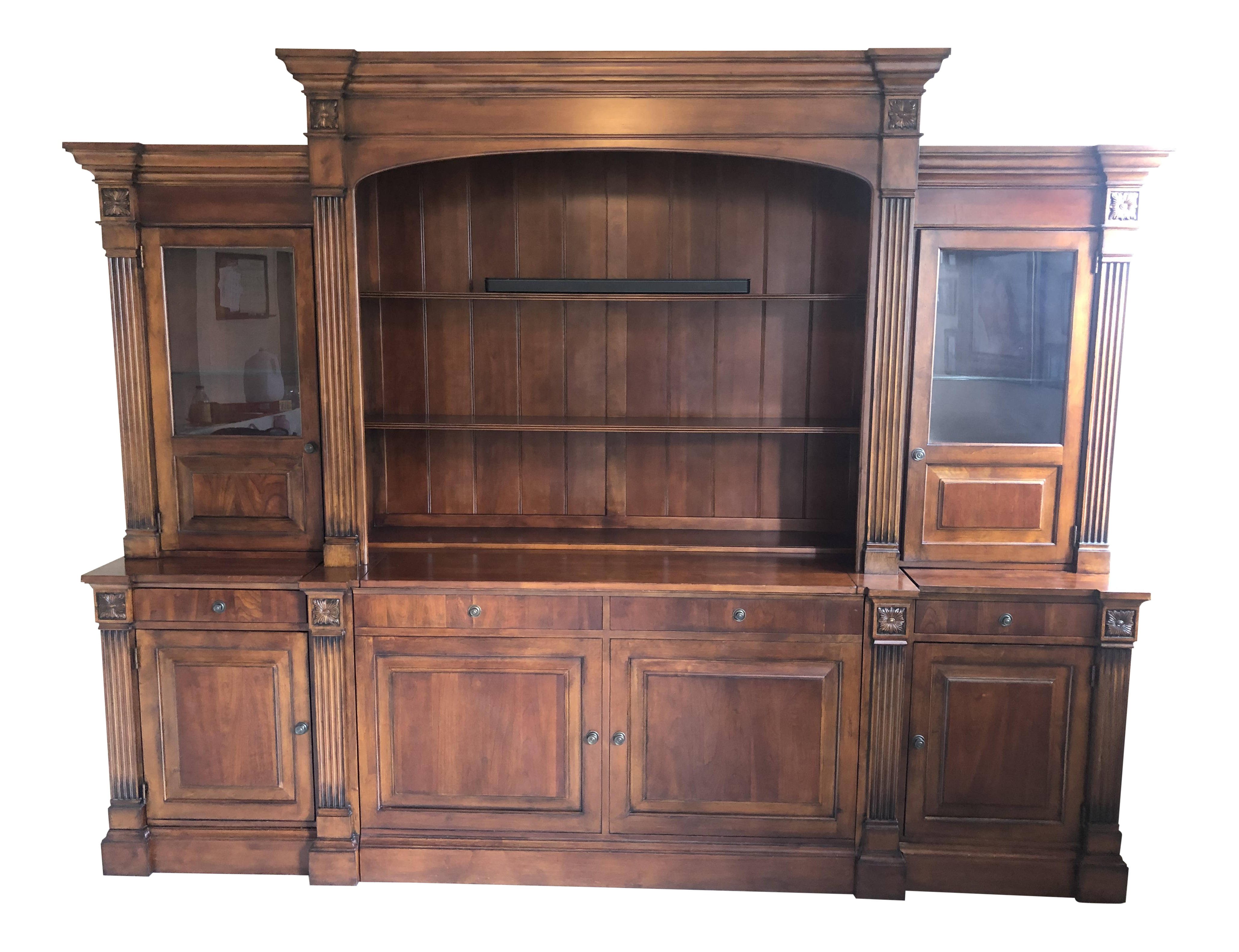 Charmant Traditional Ethan Allen Entertainment Center And Display Cases | Chairish