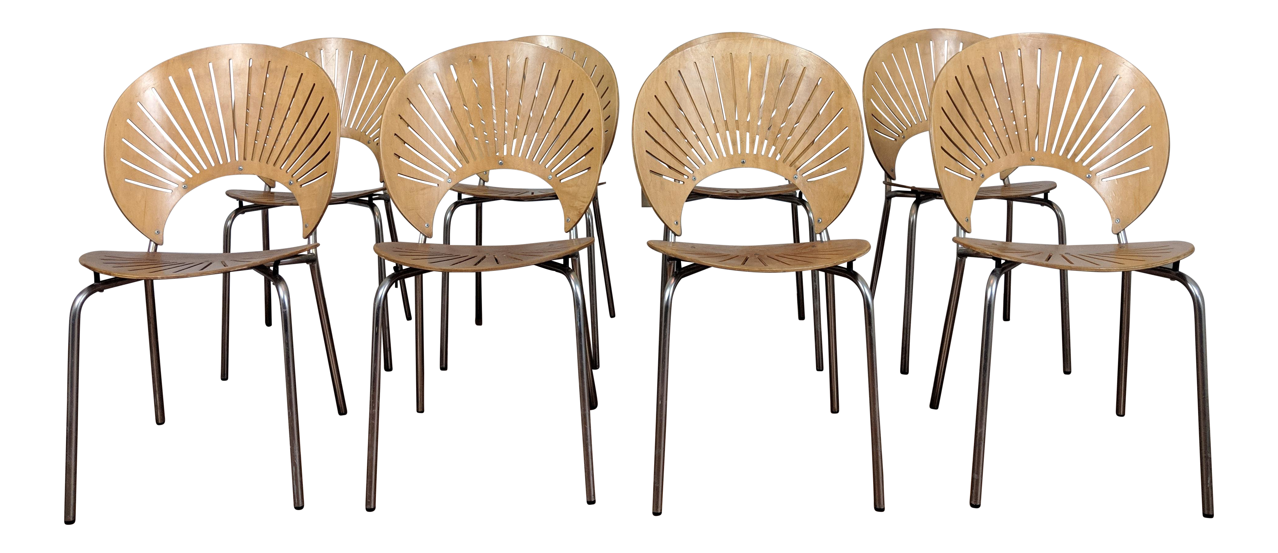 Modern nanna ditzel trinidad chairs set of 8 chairish