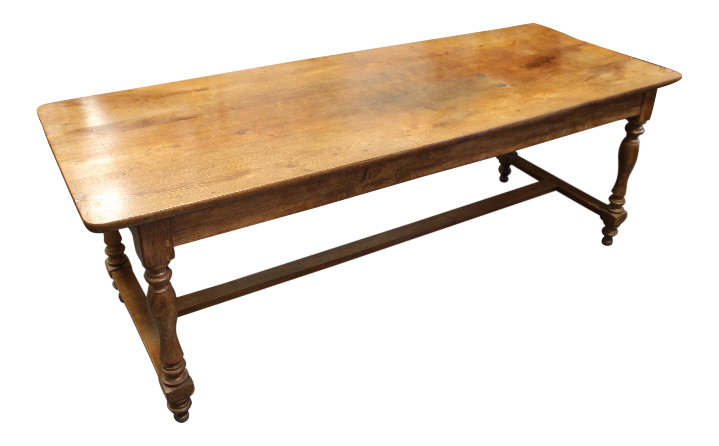 French farmhouse oak dining table chairish for Table 6 handbook 44