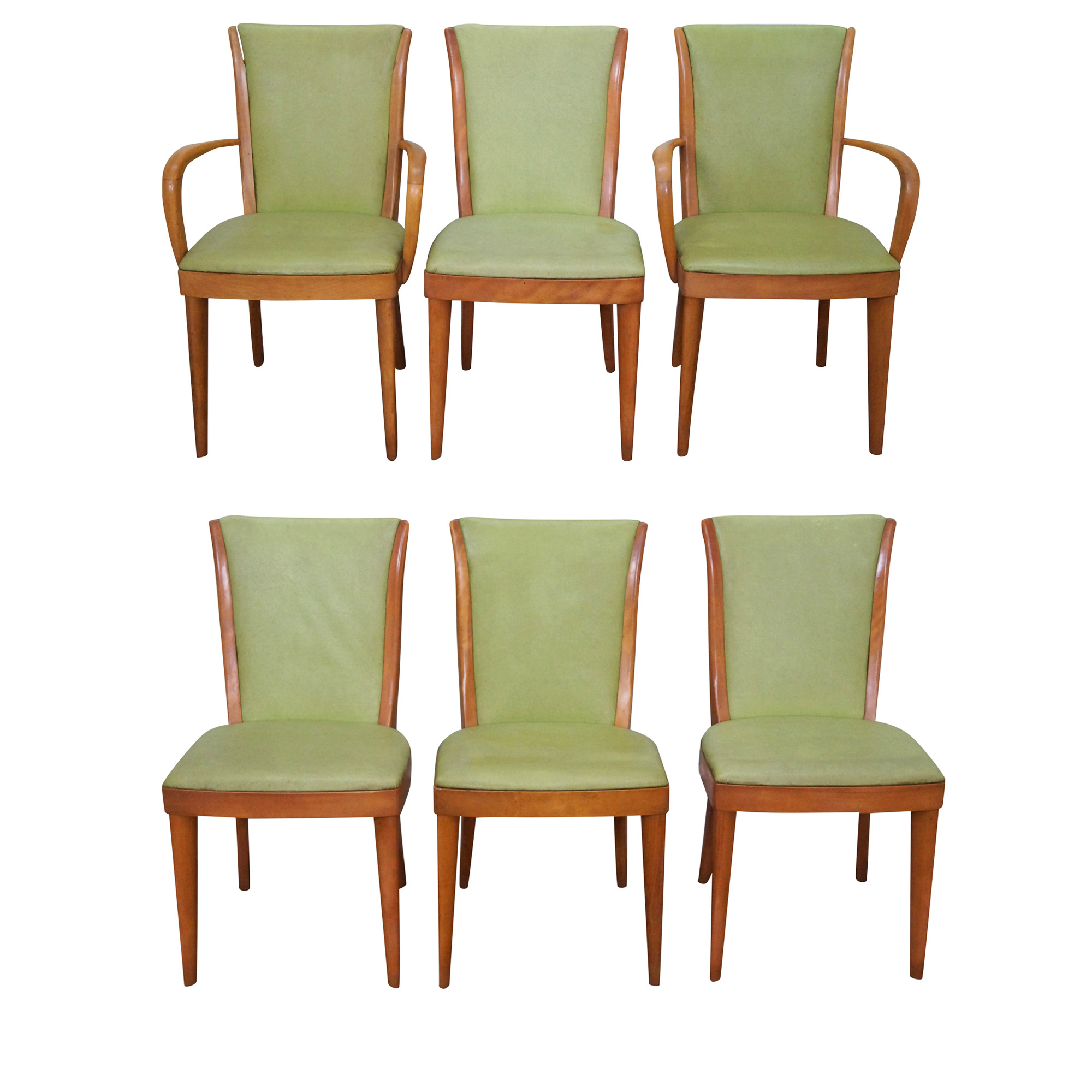 Heywood-Wakefield Vintage Dining Chairs - Set of 6 | Chairish