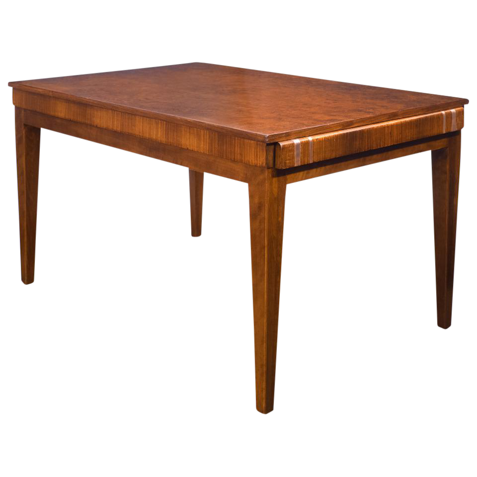 french art deco burled elm table chairish