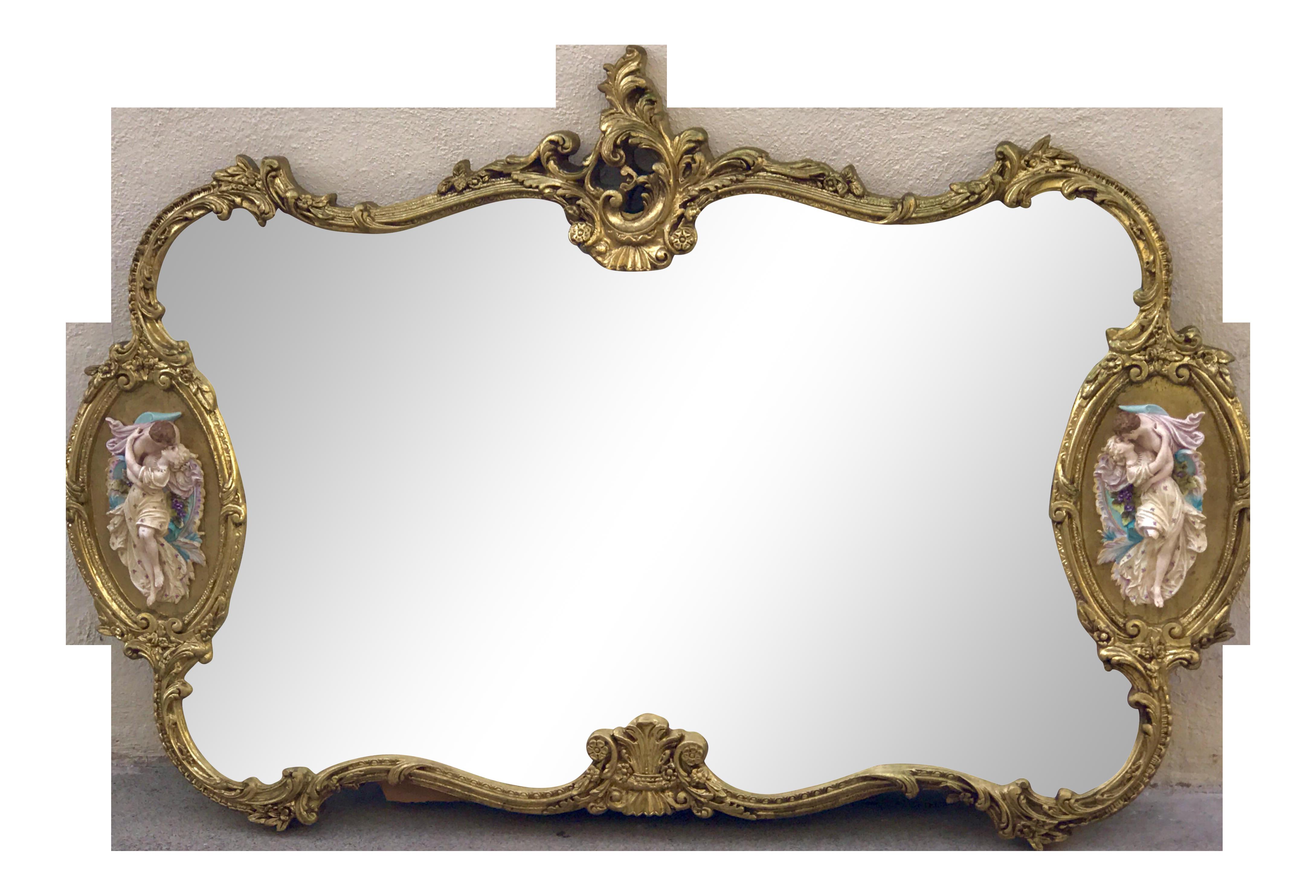 Greatest Antique Italian Rococo Gold Gilded Mirror | Chairish UR27