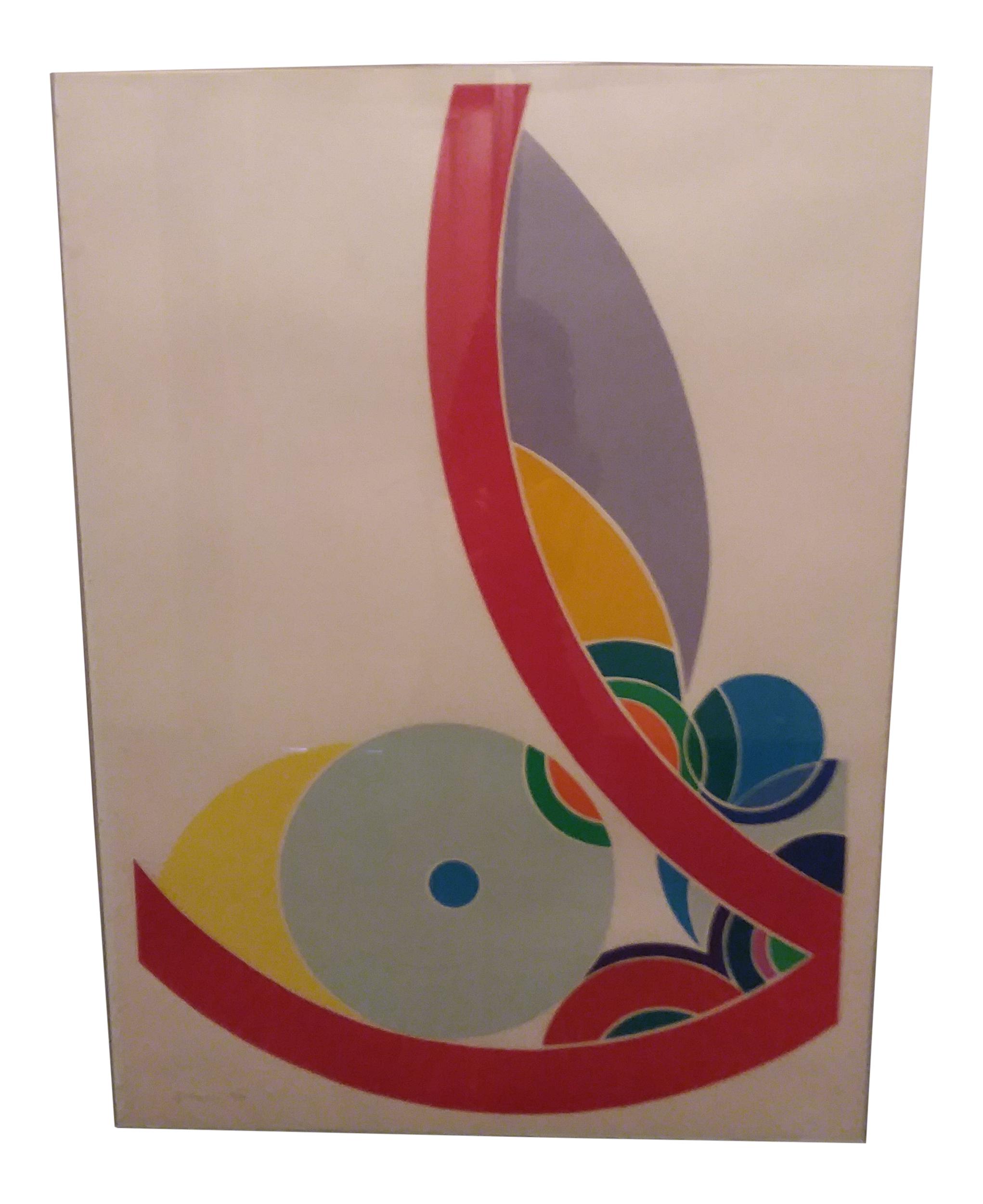 Image of: Multicolored Lithograph By Mid Century Modern Artist John H Levee Chairish